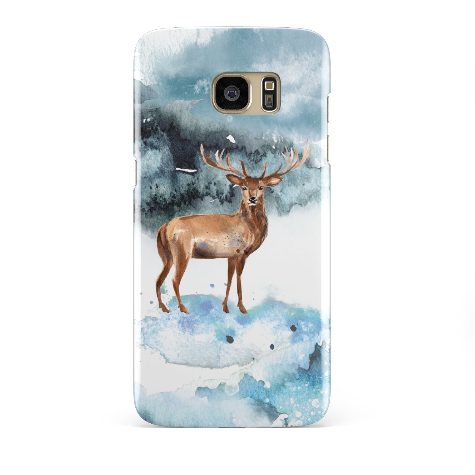 Christmas Winter Stag Samsung Galaxy S7 Edge Case