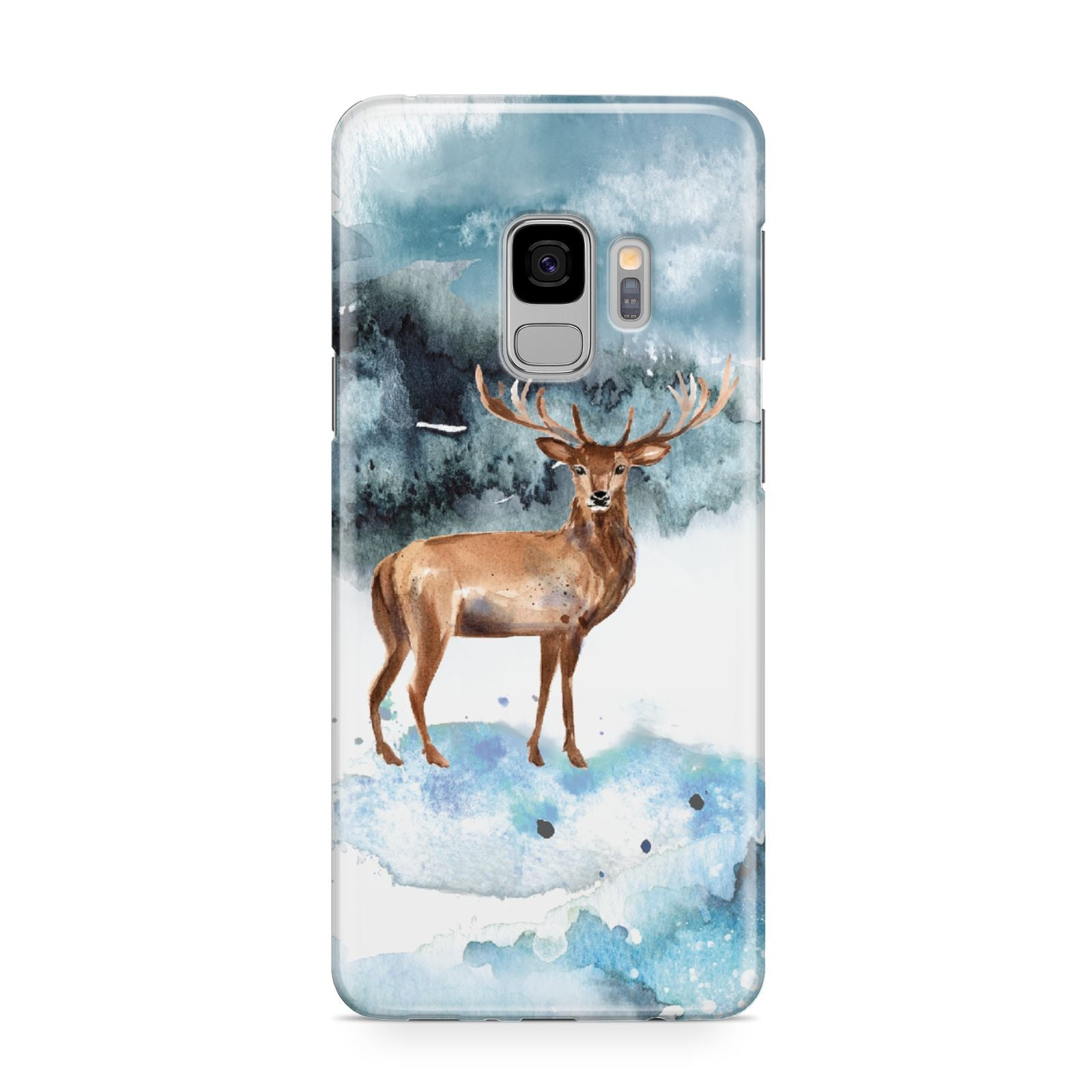 Christmas Winter Stag Samsung Galaxy S9 Case