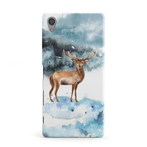 Christmas Winter Stag Sony Case