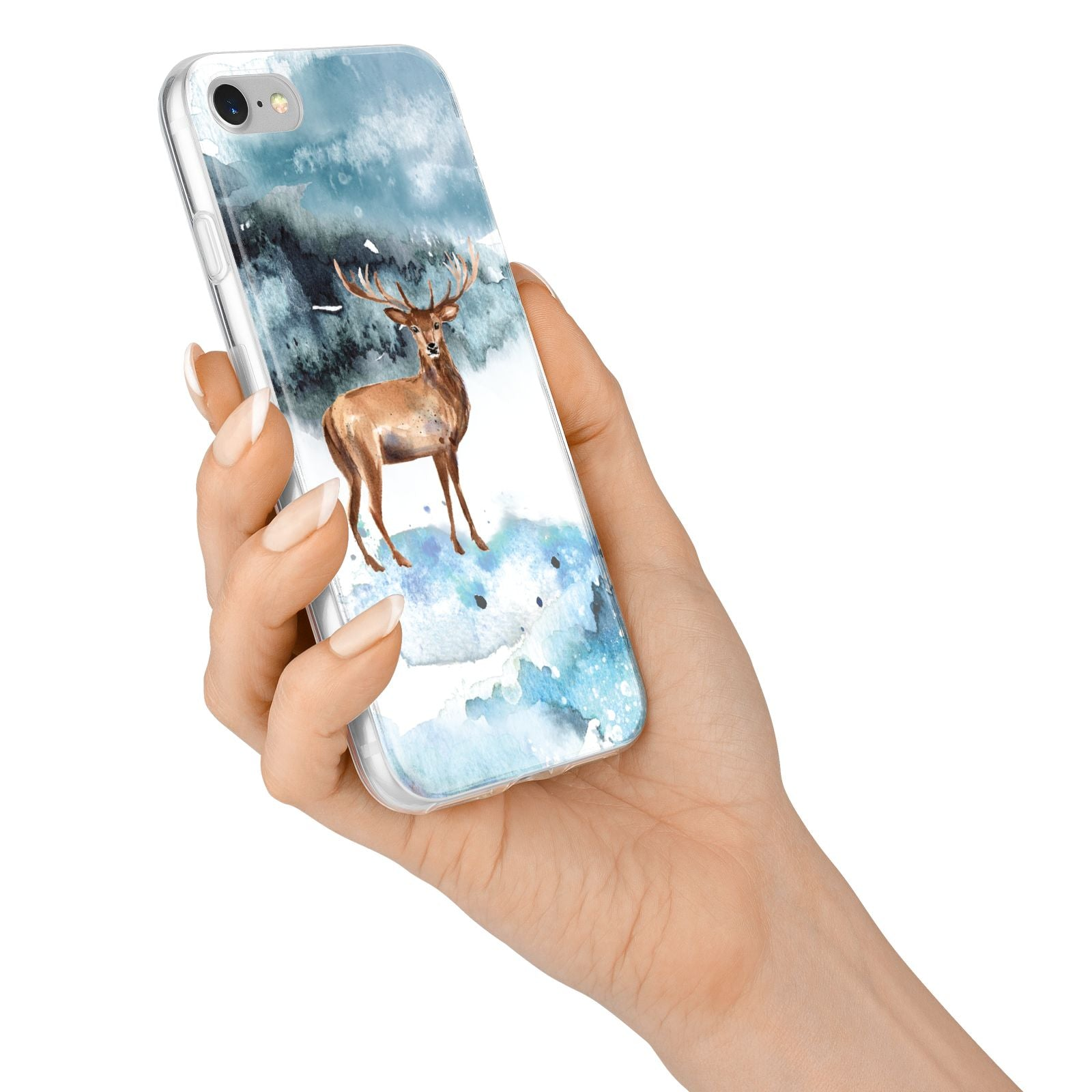 Christmas Winter Stag iPhone 7 Bumper Case on Silver iPhone Alternative Image