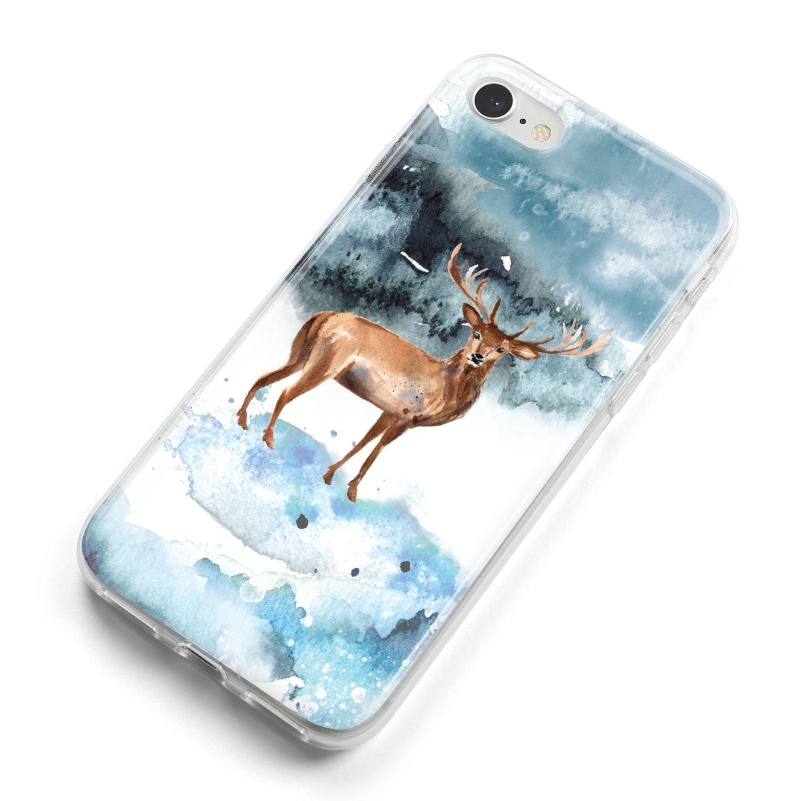 Christmas Winter Stag iPhone 8 Bumper Case on Silver iPhone Alternative Image