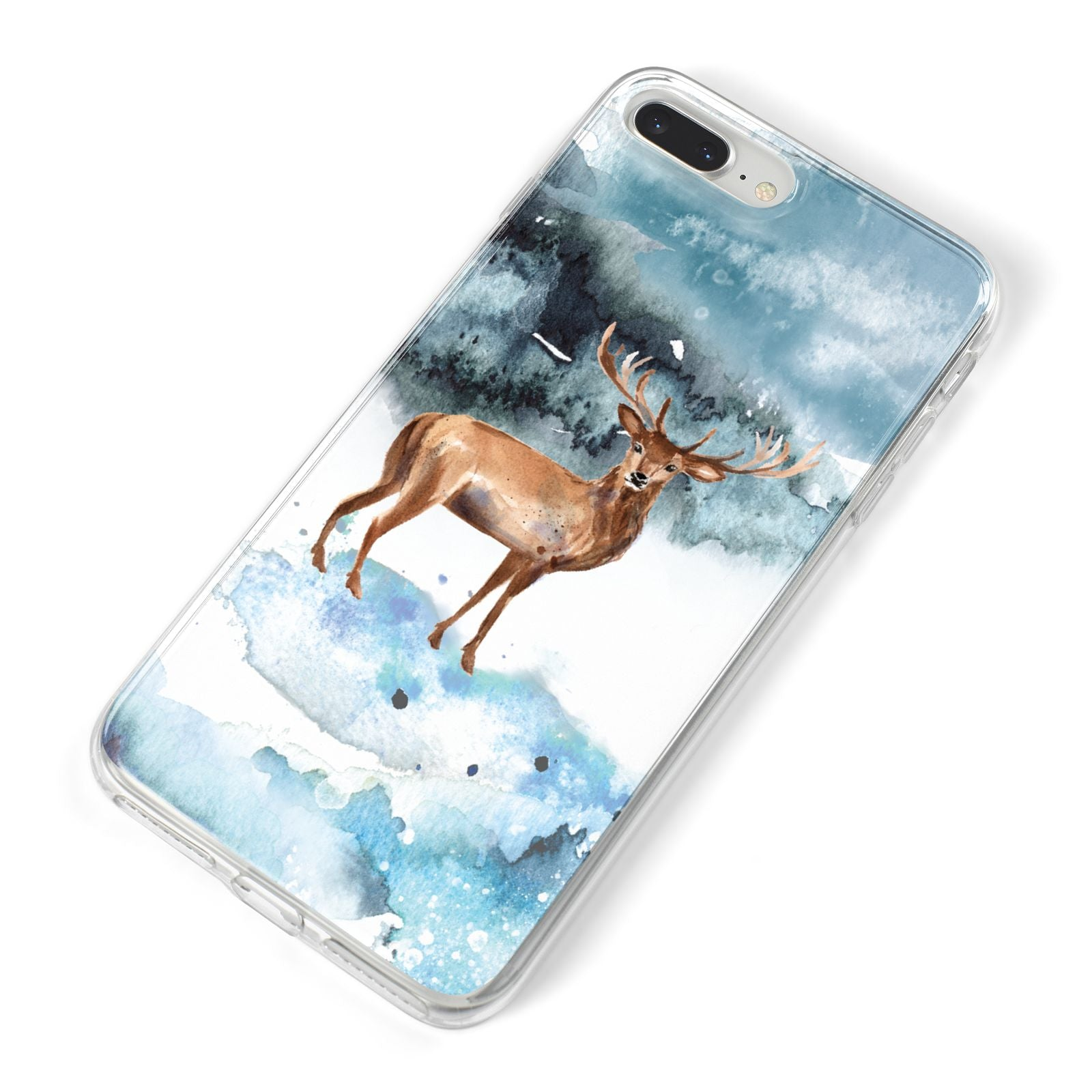 Christmas Winter Stag iPhone 8 Plus Bumper Case on Silver iPhone Alternative Image