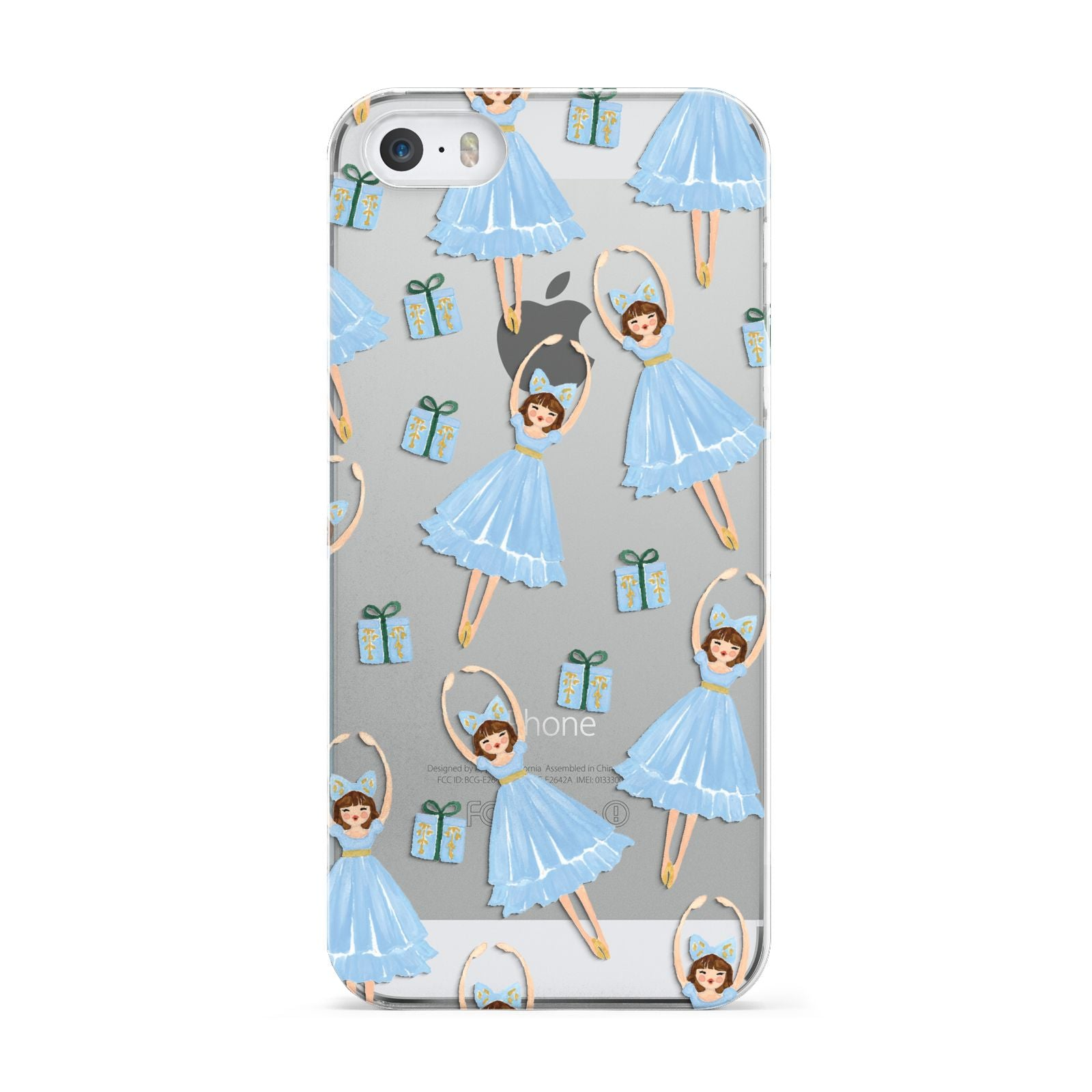 Christmas ballerina present Apple iPhone 5 Case