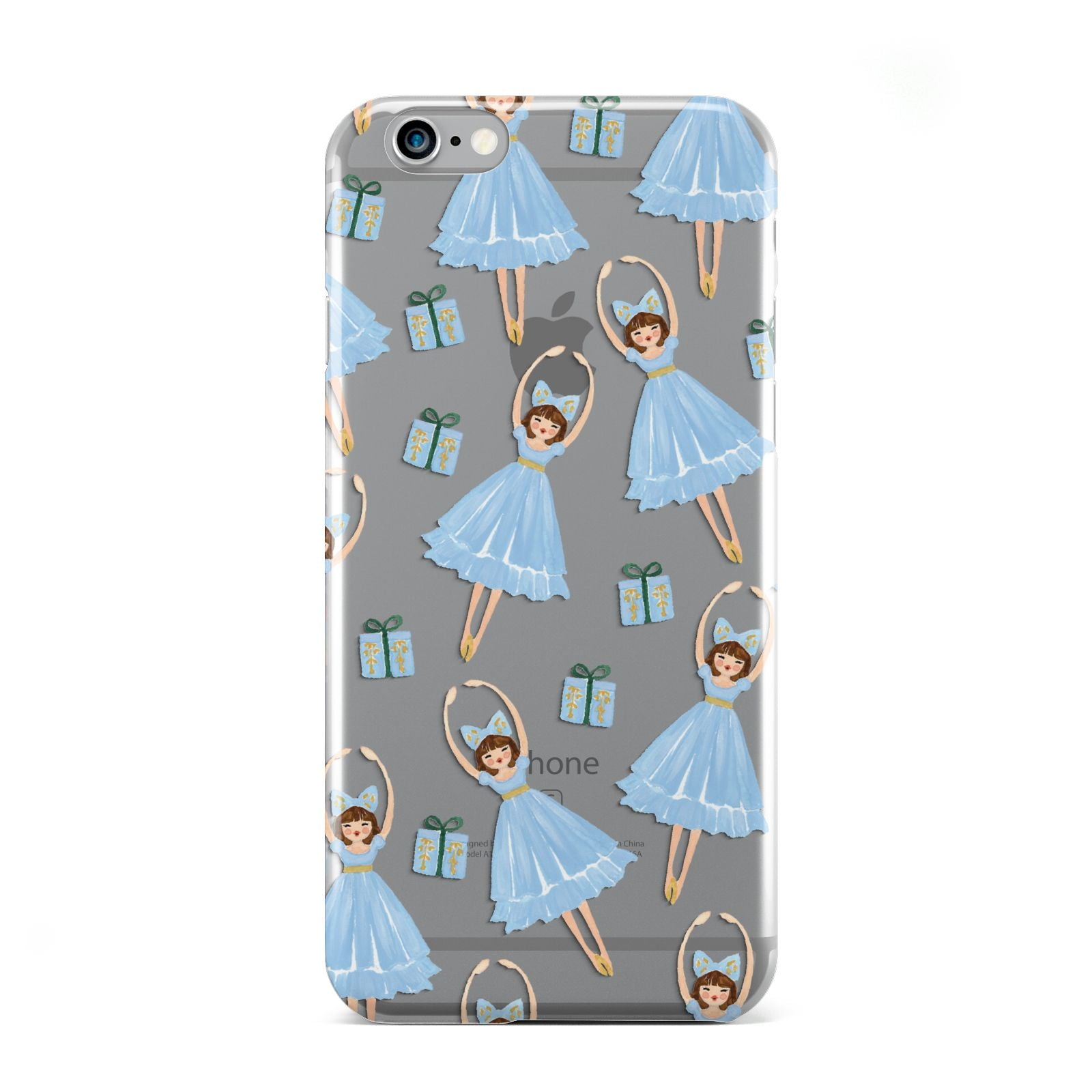 Christmas ballerina present Apple iPhone 6 Case