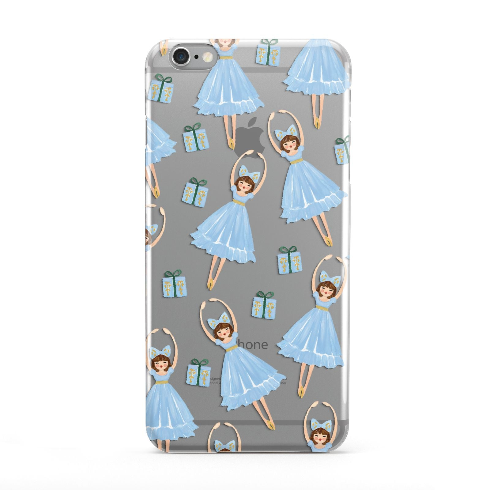 Christmas ballerina present Apple iPhone 6 Plus Case