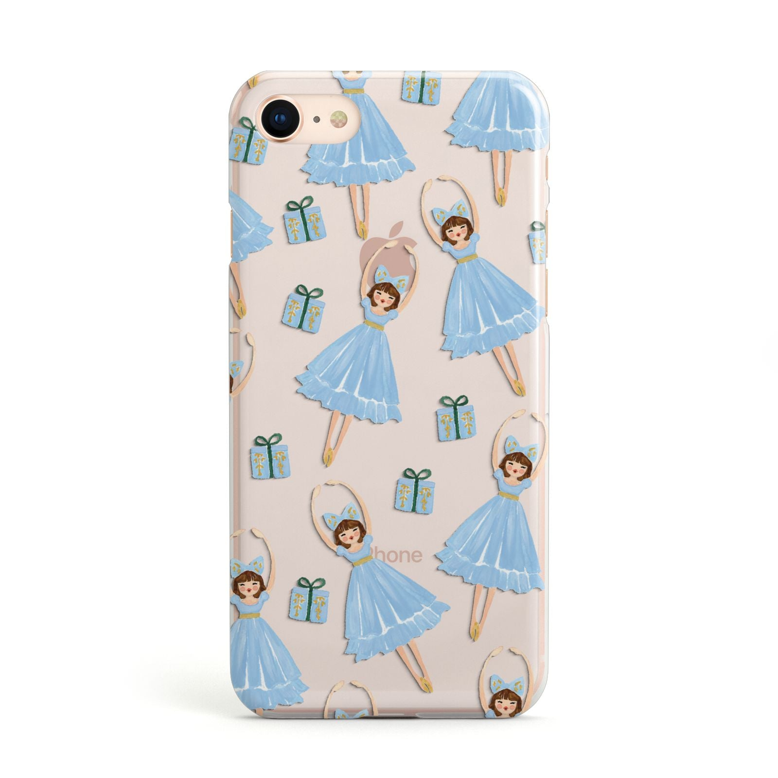 Christmas ballerina present Apple iPhone Case