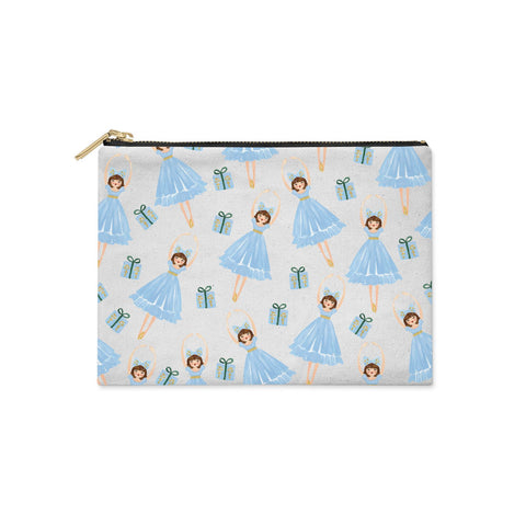Christmas ballerina & present Clutch Bag