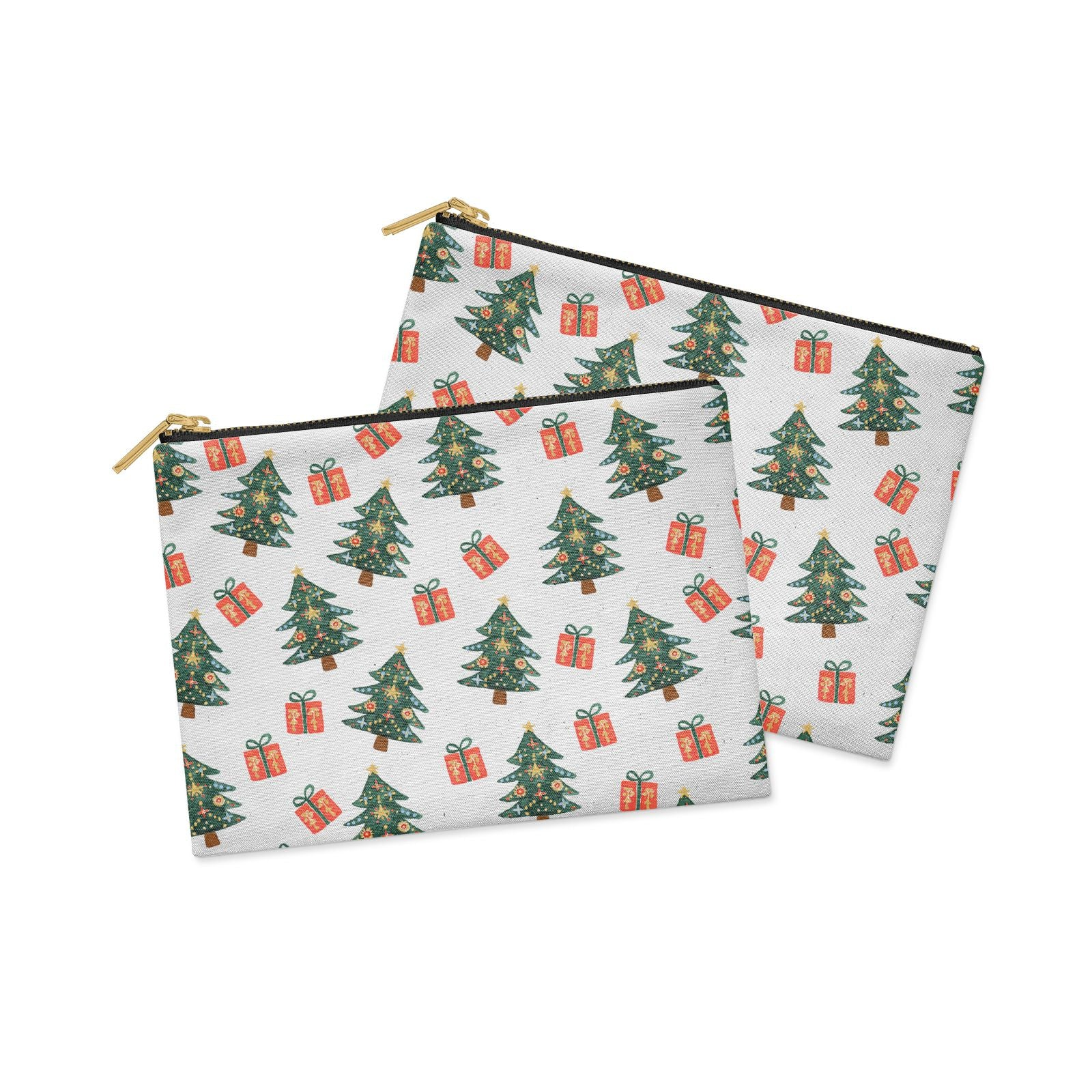 Christmas tree and presents Clutch Bag Zipper Pouch Alternative View