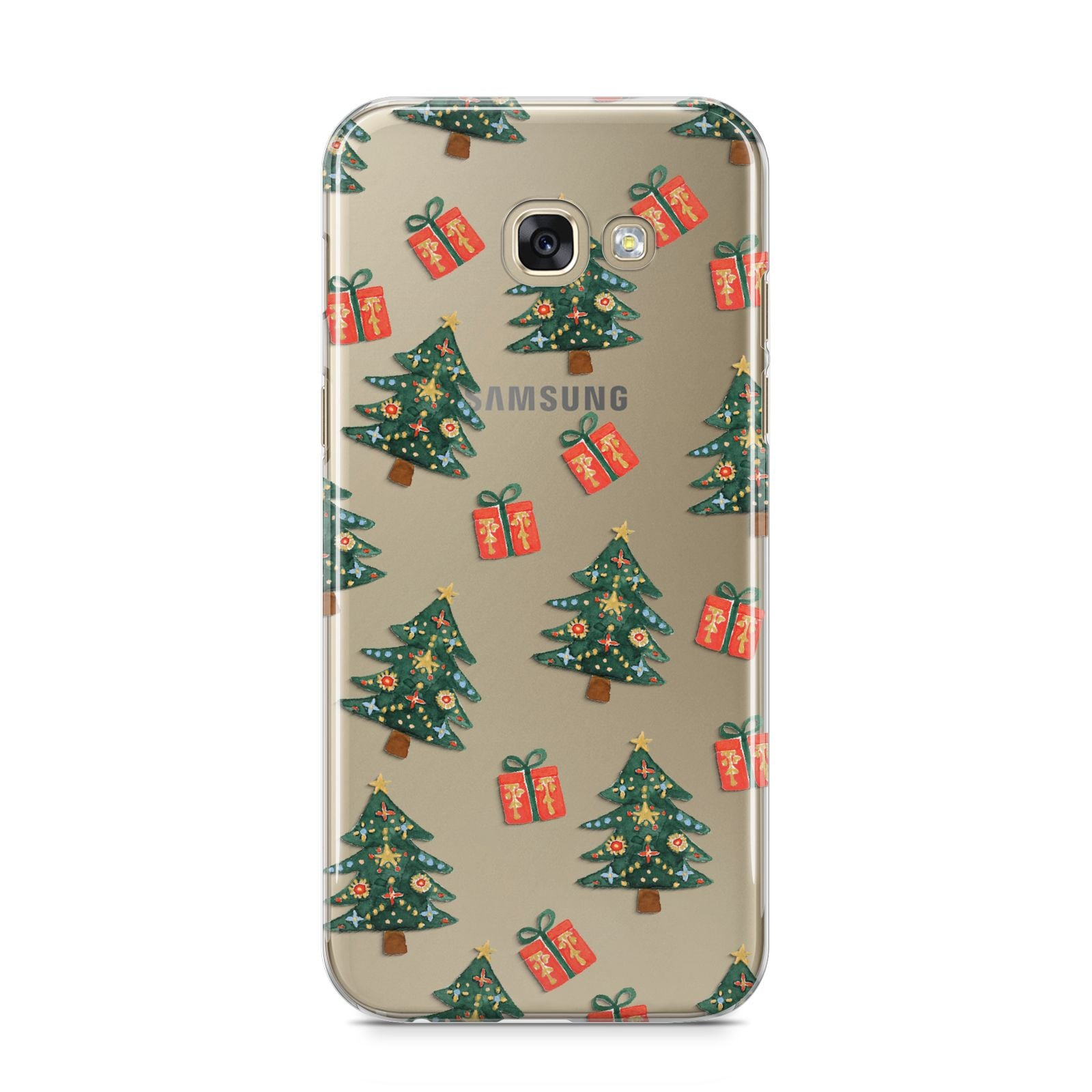 Christmas tree and presents Samsung Galaxy A5 2017 Case on gold phone