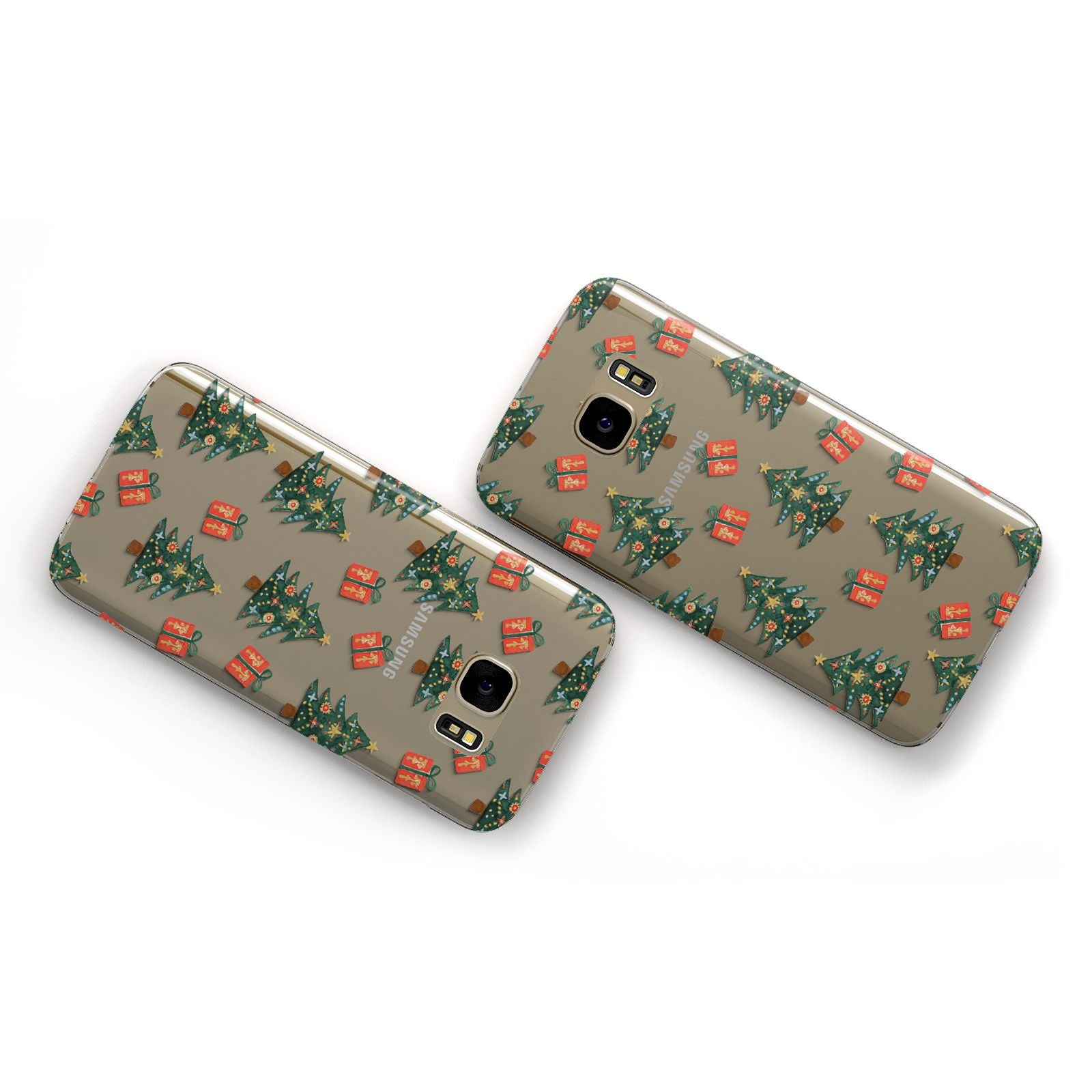 Christmas tree and presents Samsung Galaxy Case Flat Overview