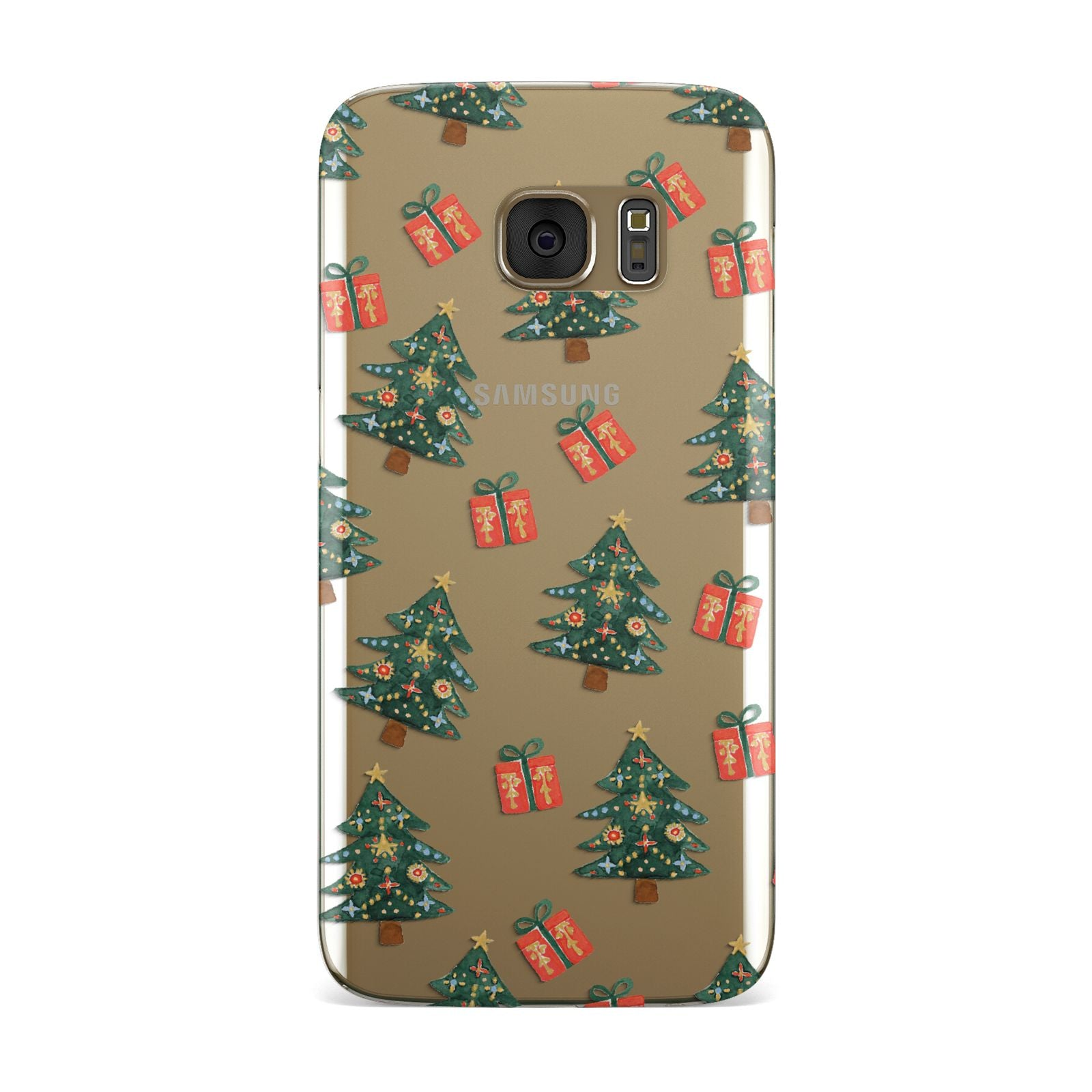 Christmas tree and presents Samsung Galaxy Case
