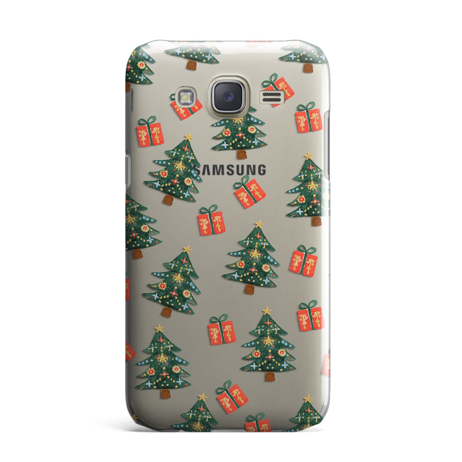 Christmas tree and presents Samsung Galaxy J7 Case