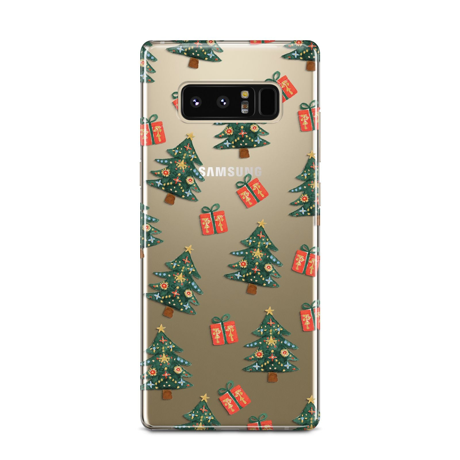 Christmas tree and presents Samsung Galaxy Note 8 Case