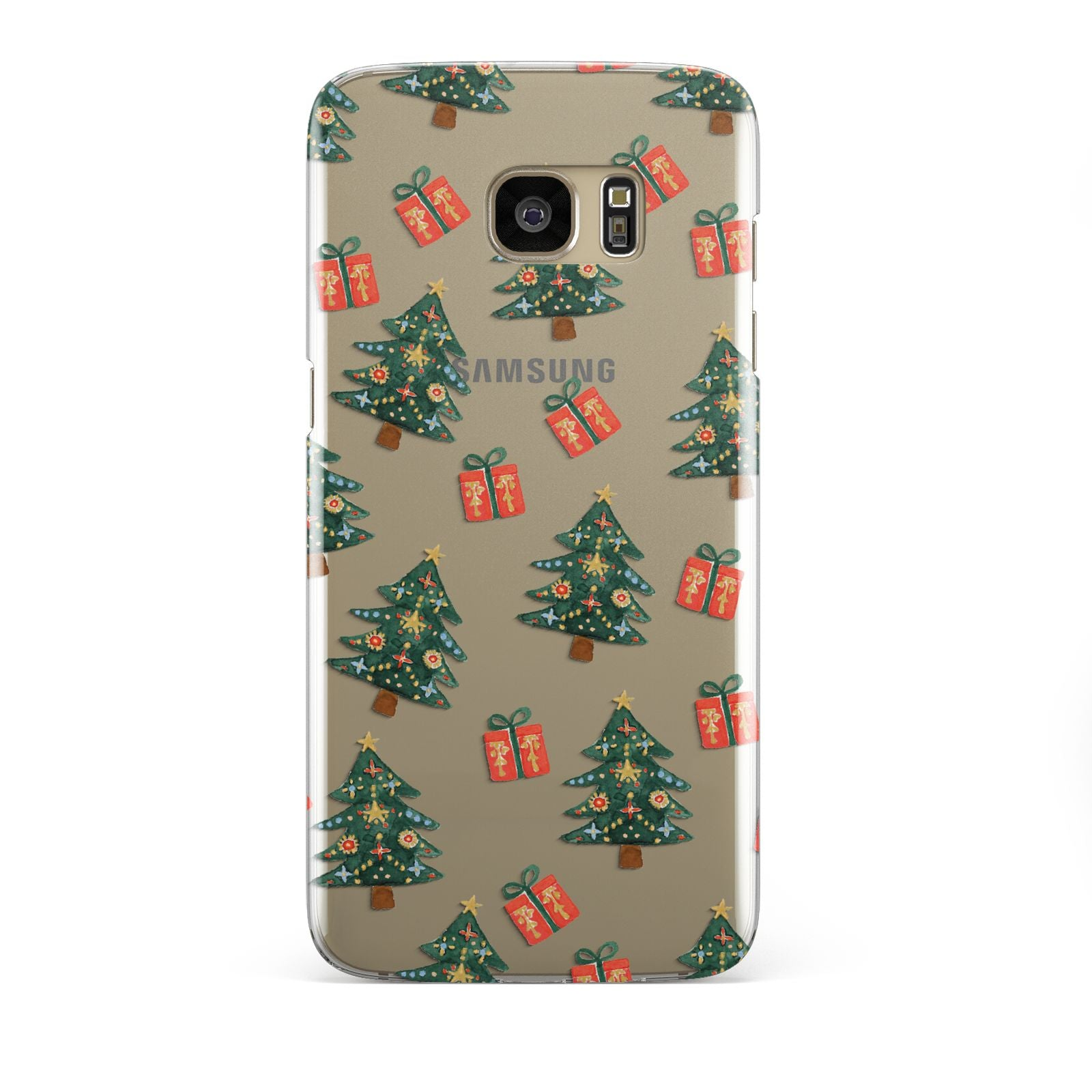 Christmas tree and presents Samsung Galaxy S7 Edge Case