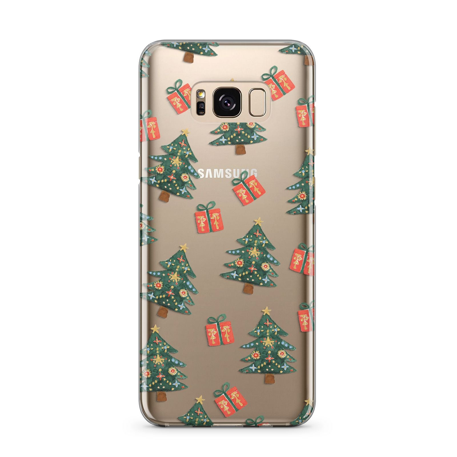 Christmas tree and presents Samsung Galaxy S8 Plus Case