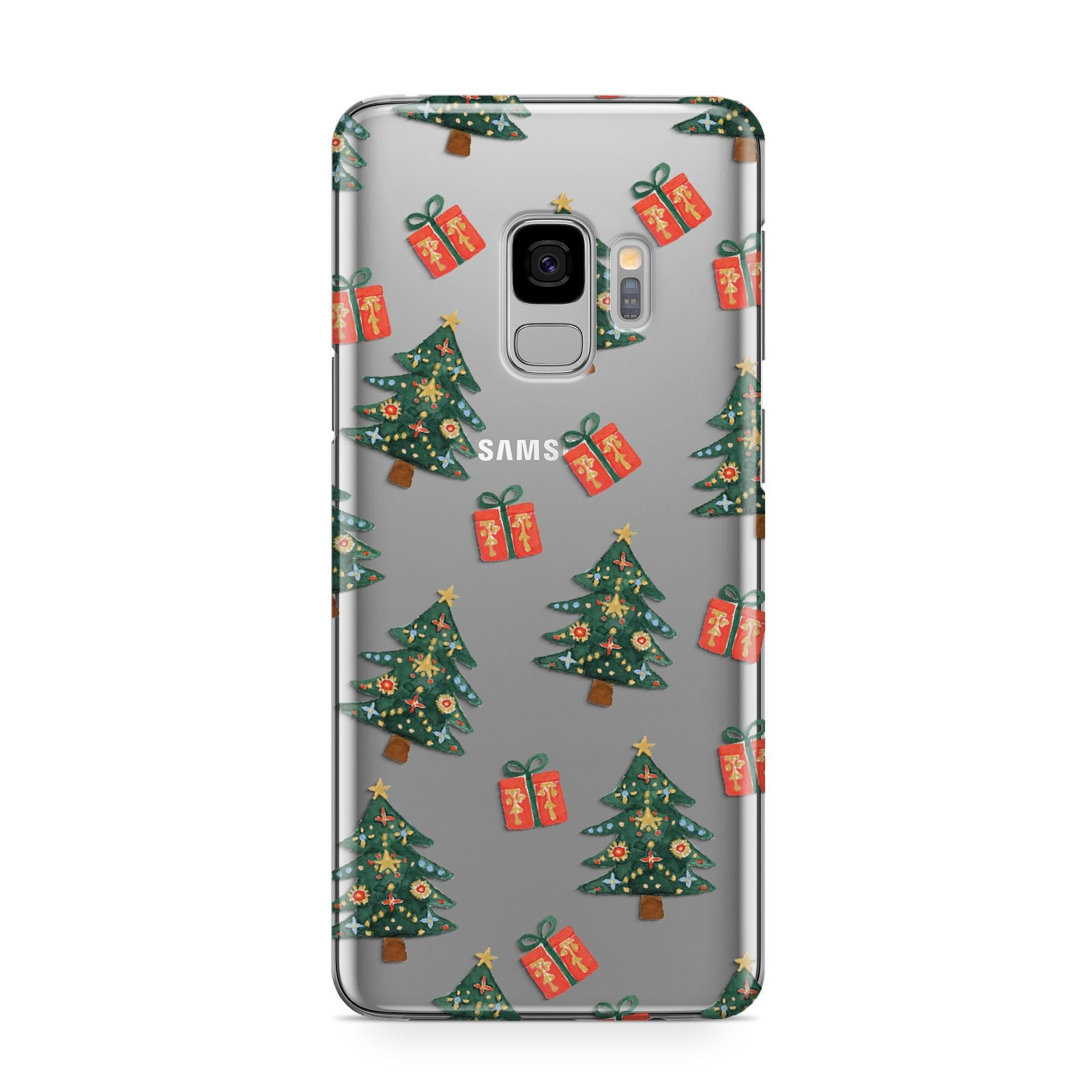 Christmas tree and presents Samsung Galaxy S9 Case