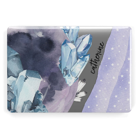 Crystals Personalised Name Macbook Case