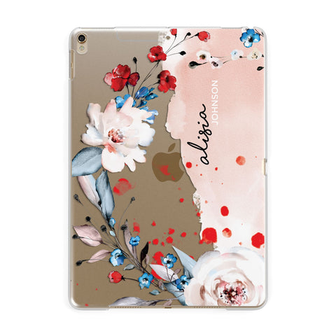 Custom Name Floral Bouquet iPad Case