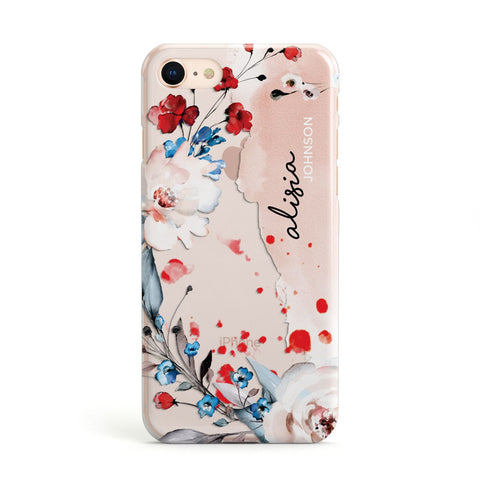 Custom Name Floral Bouquet iPhone Case