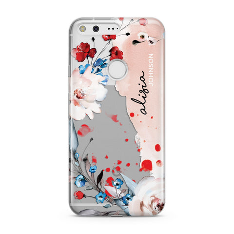 Custom Name Floral Bouquet Google Case