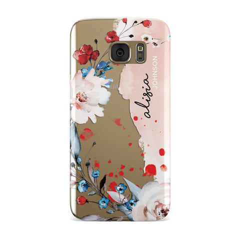 Custom Name Floral Bouquet Samsung Galaxy Case