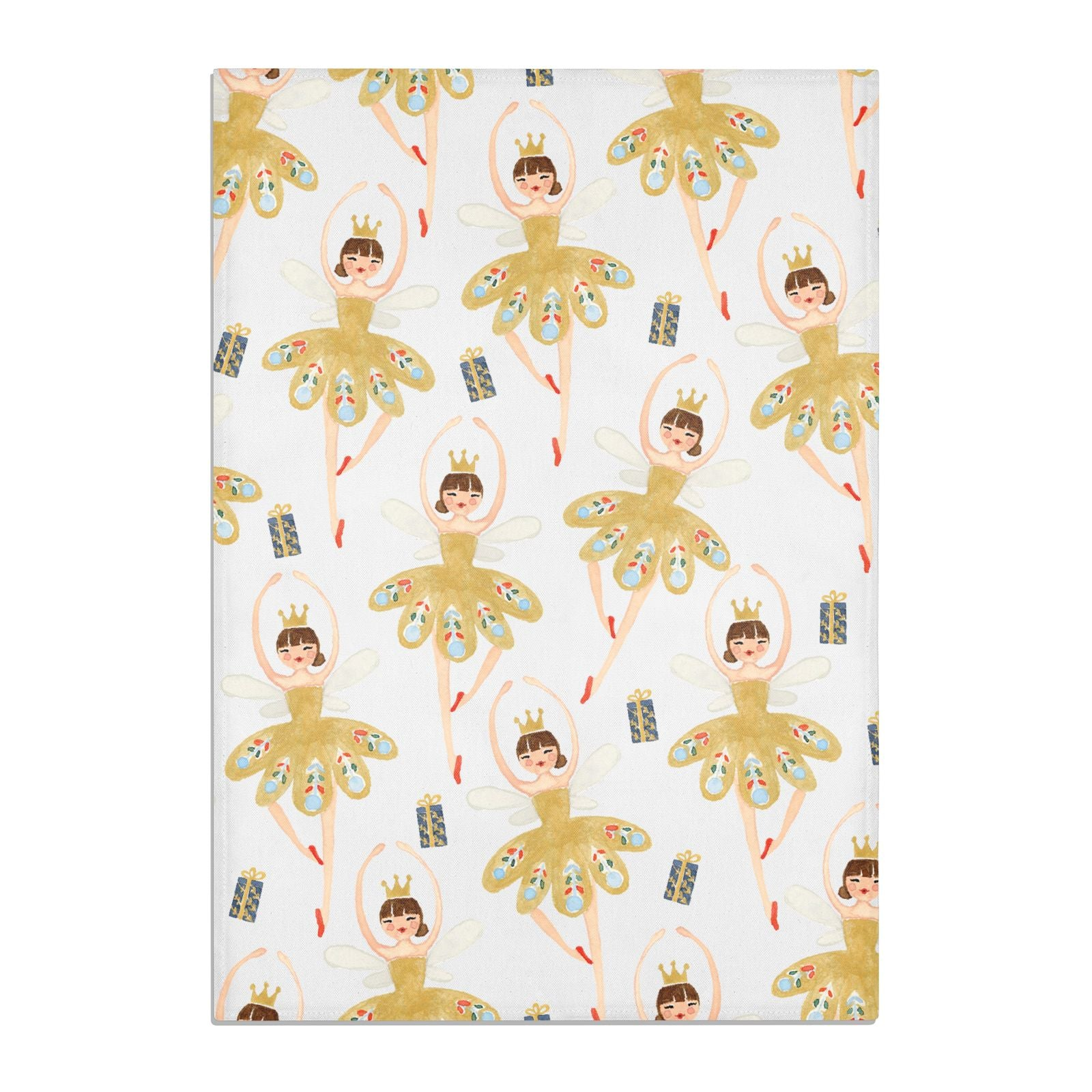 Dancing ballerina princess Cotton Tea Towel