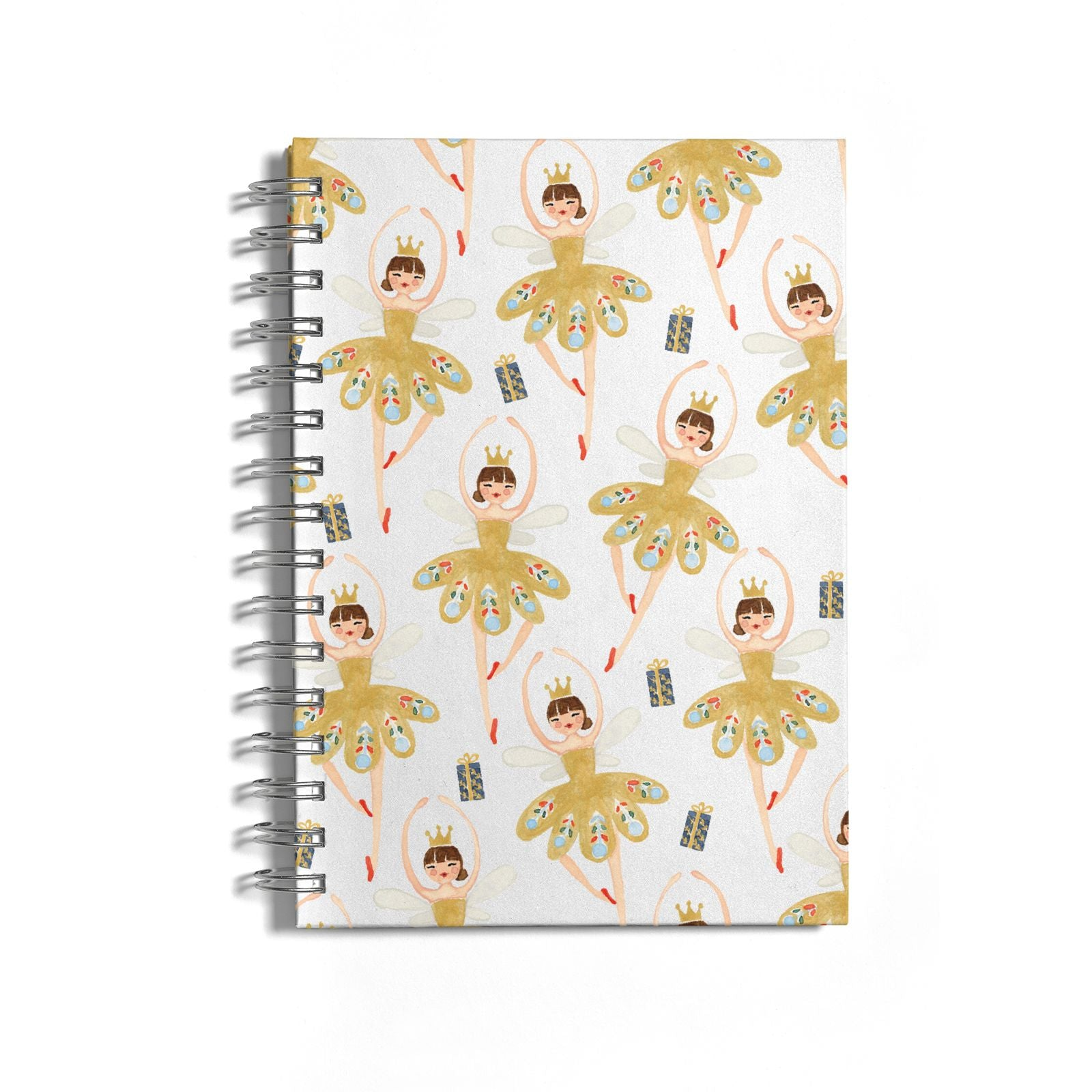 Dancing ballerina princess Notebook with Silver Coil
