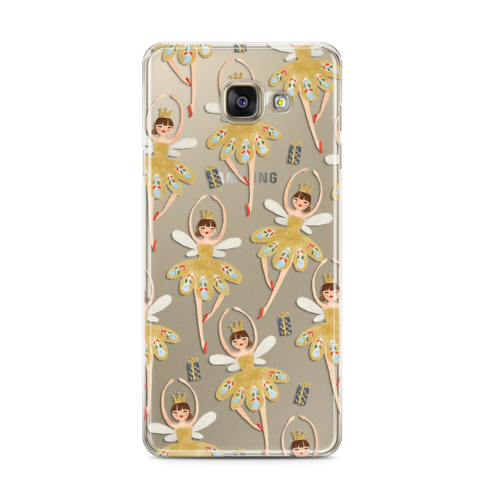 Dancing ballerina princess Samsung Galaxy A3 2016 Case on gold phone