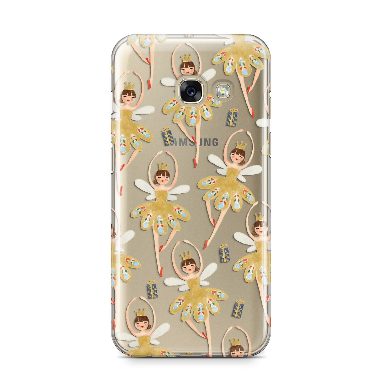 Dancing ballerina princess Samsung Galaxy A3 2017 Case on gold phone