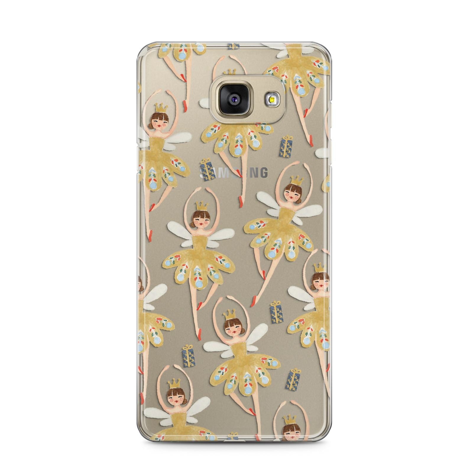 Dancing ballerina princess Samsung Galaxy A5 2016 Case on gold phone