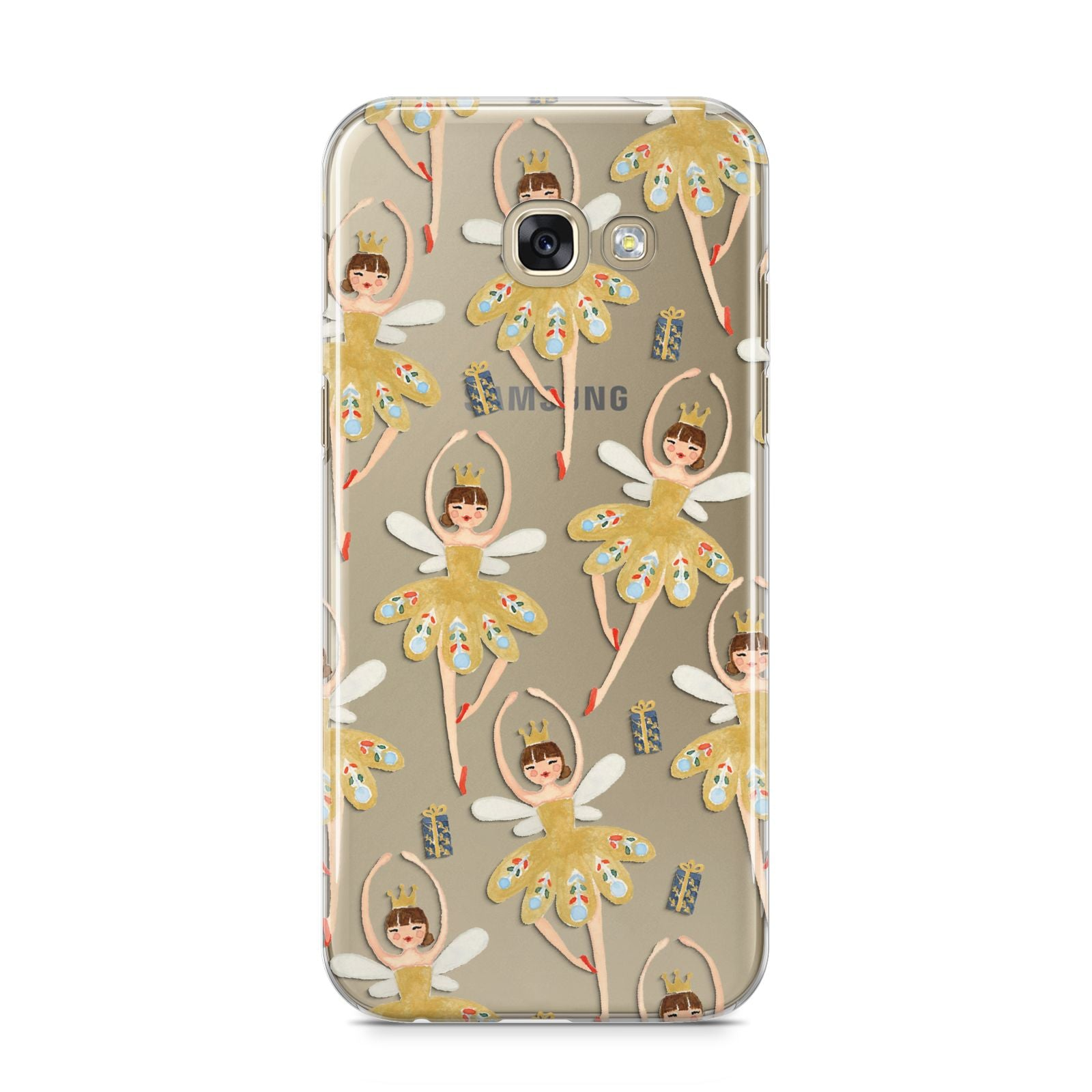 Dancing ballerina princess Samsung Galaxy A5 2017 Case on gold phone