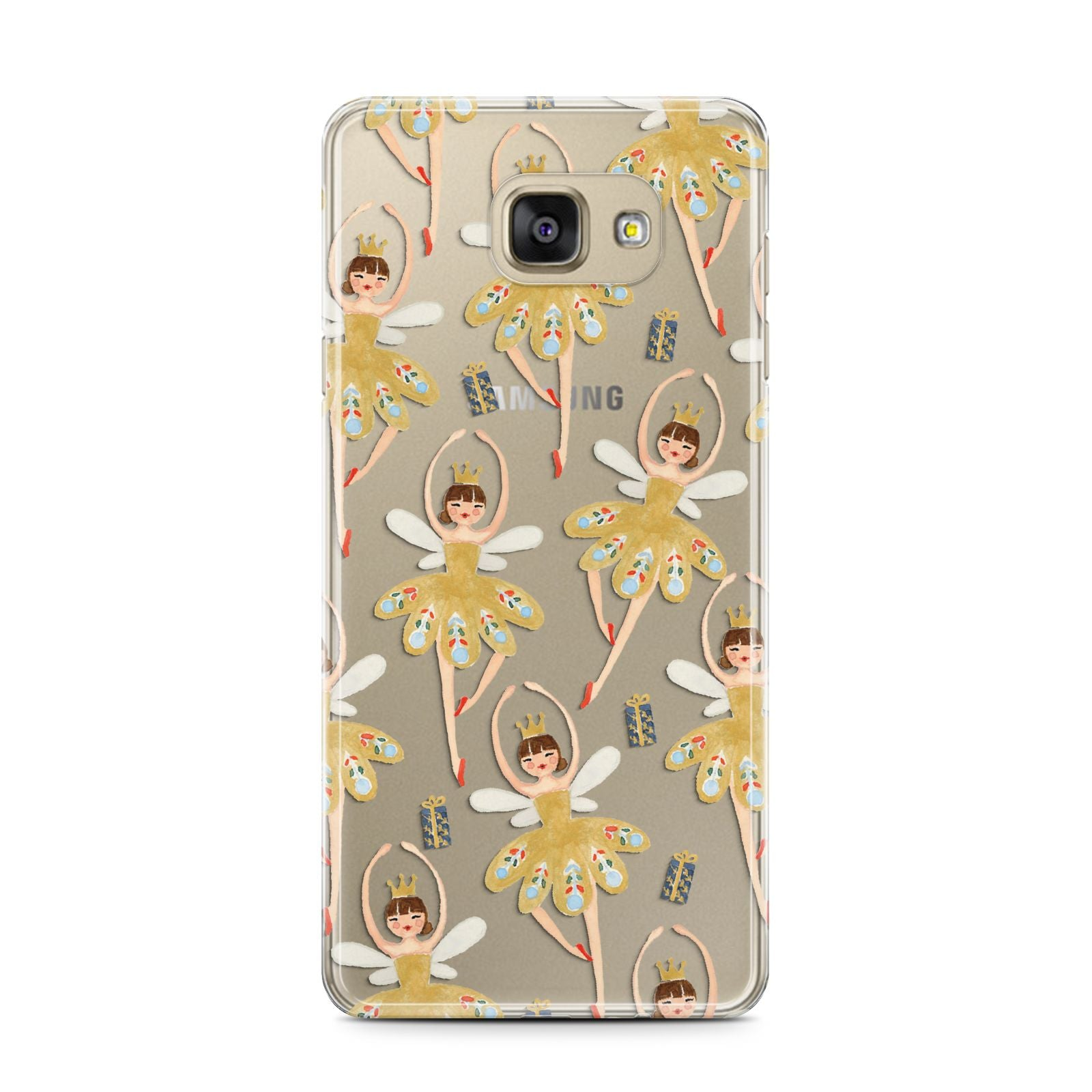 Dancing ballerina princess Samsung Galaxy A7 2016 Case on gold phone