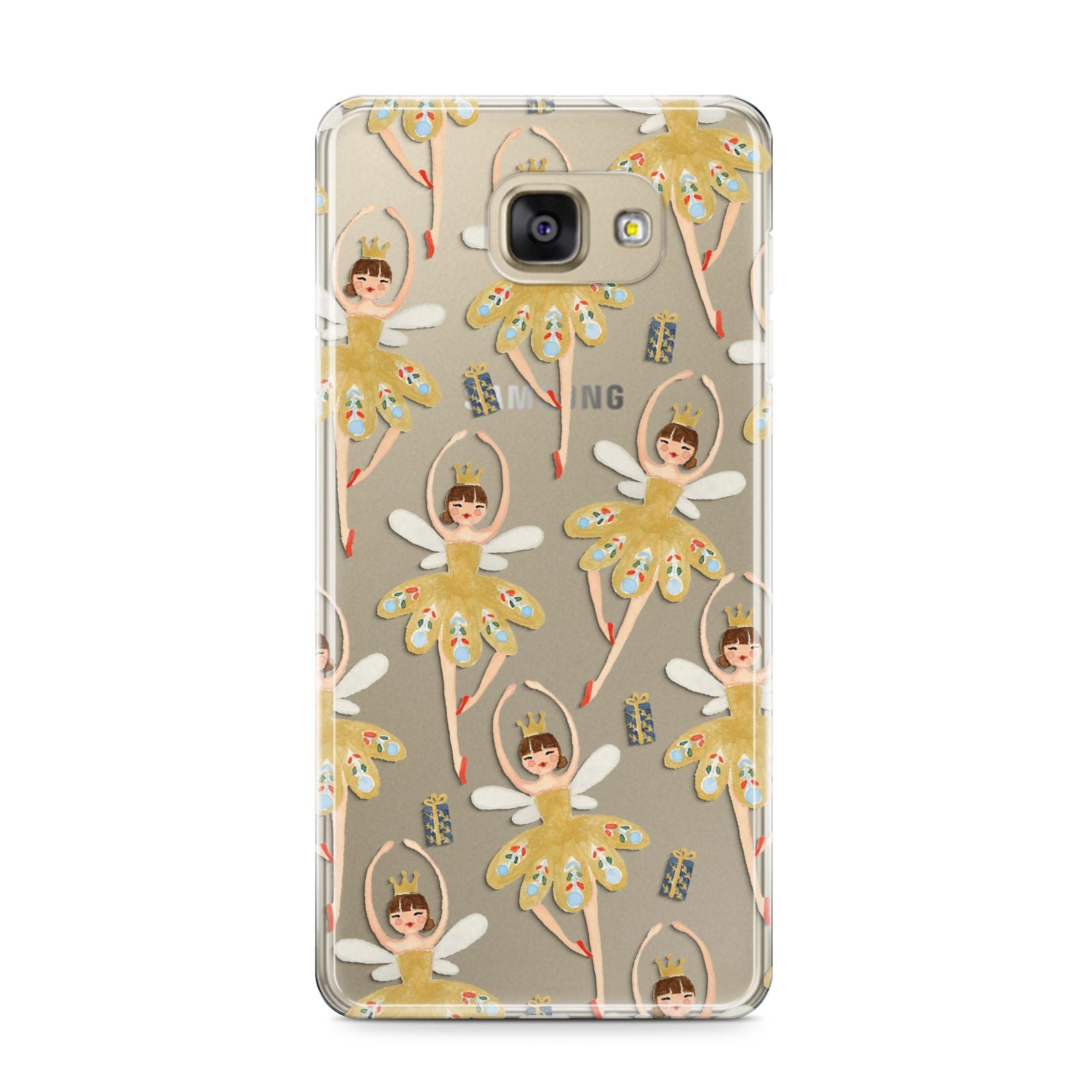 Dancing ballerina princess Samsung Galaxy A9 2016 Case on gold phone