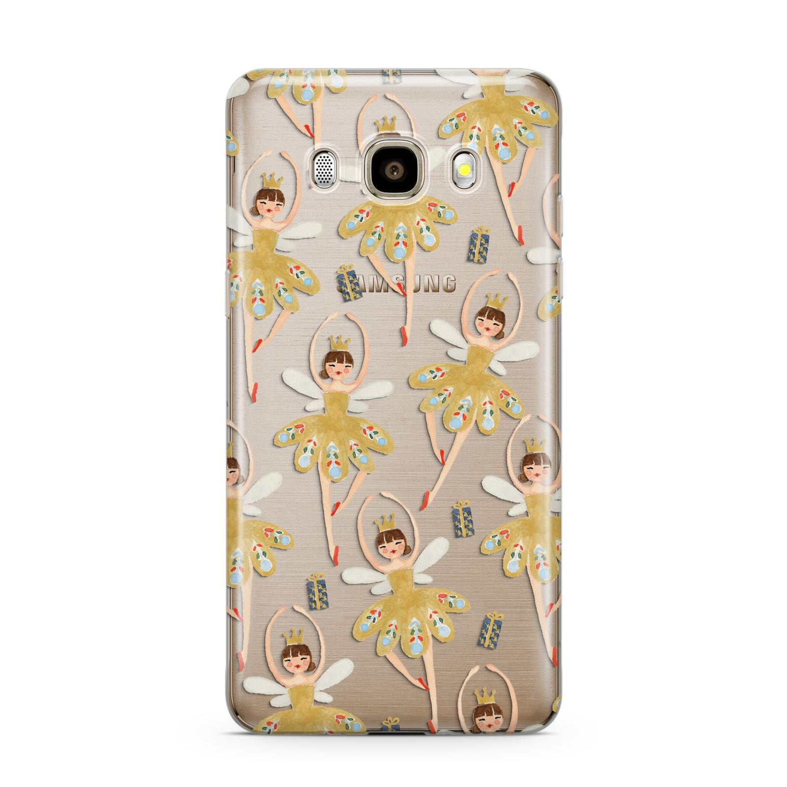 Dancing ballerina princess Samsung Galaxy J7 2016 Case on gold phone