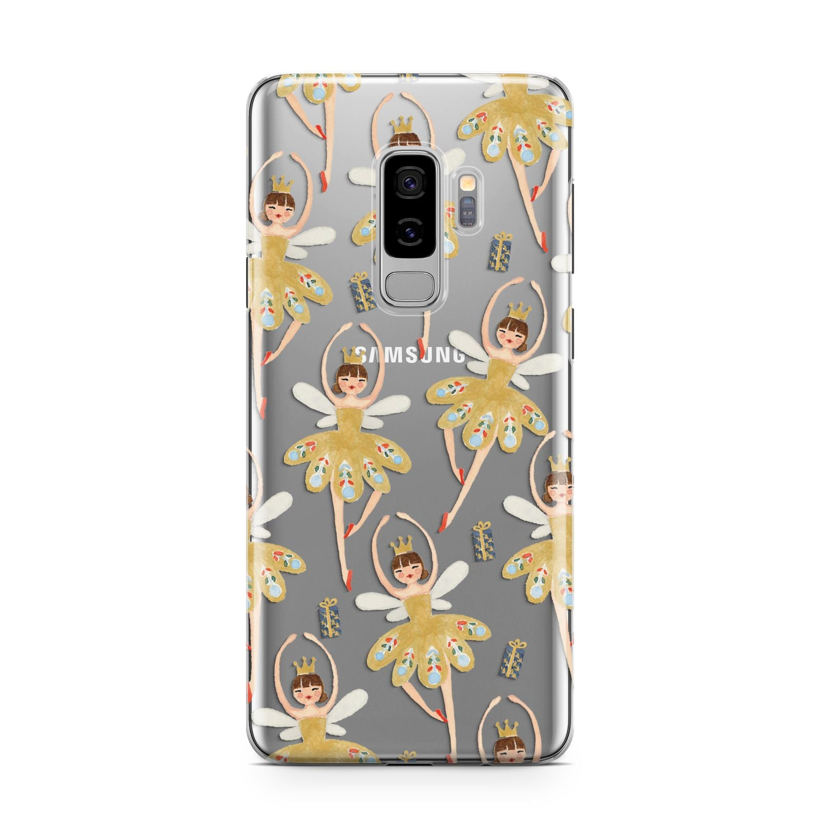 Dancing ballerina princess Samsung Galaxy S9 Plus Case on Silver phone