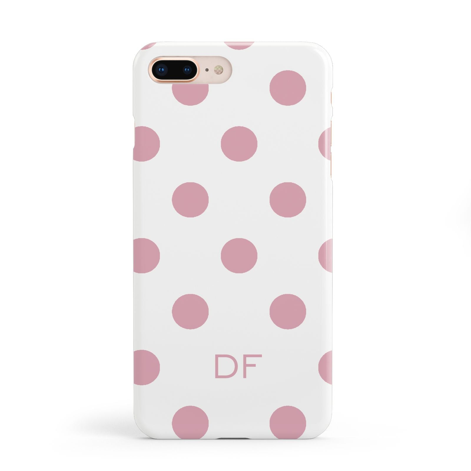 Dots Initials Personalised Apple iPhone 8 Plus Case