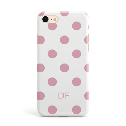Dots Initials Personalised Apple iPhone Case