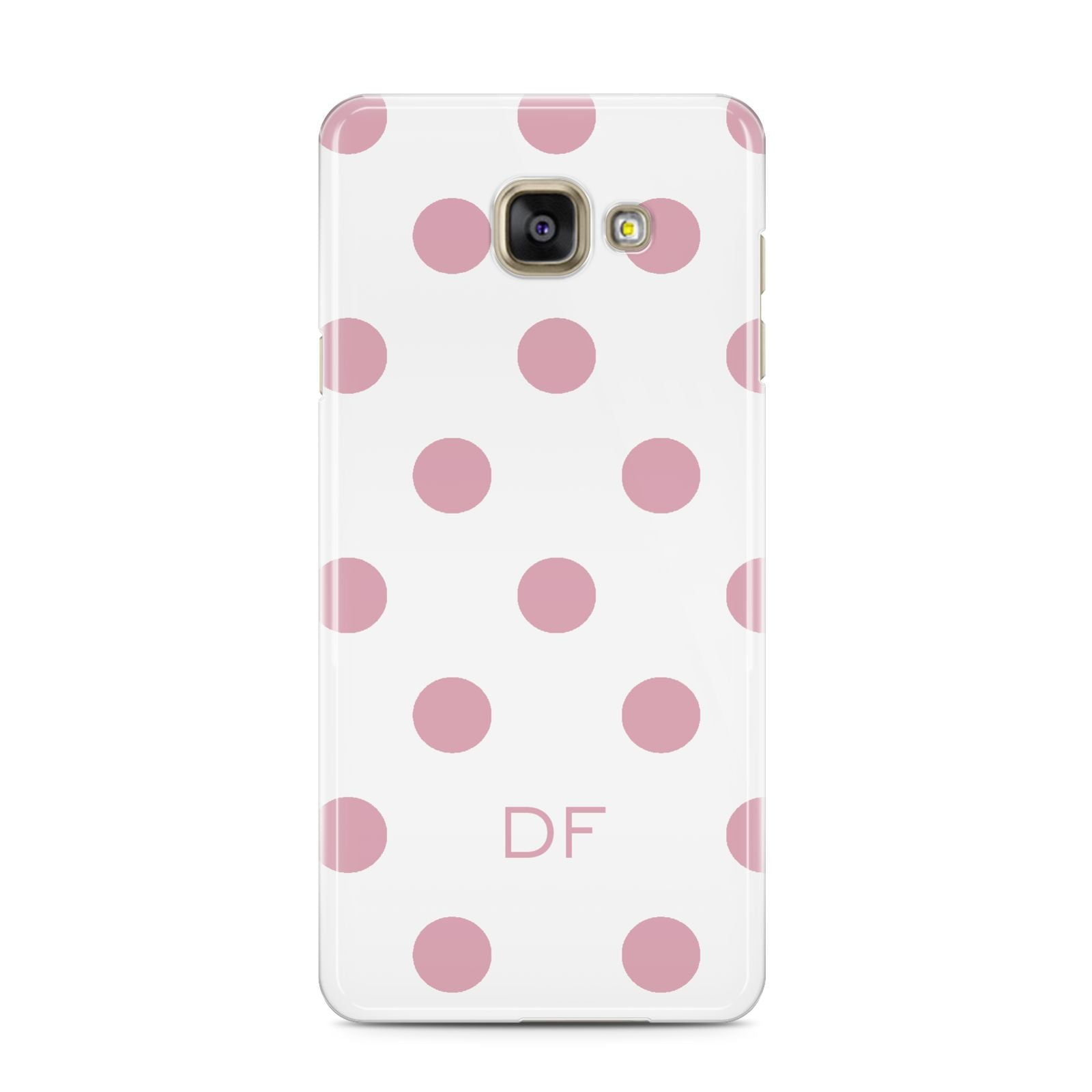 Dots Initials Personalised Samsung Galaxy A3 2016 Case on gold phone