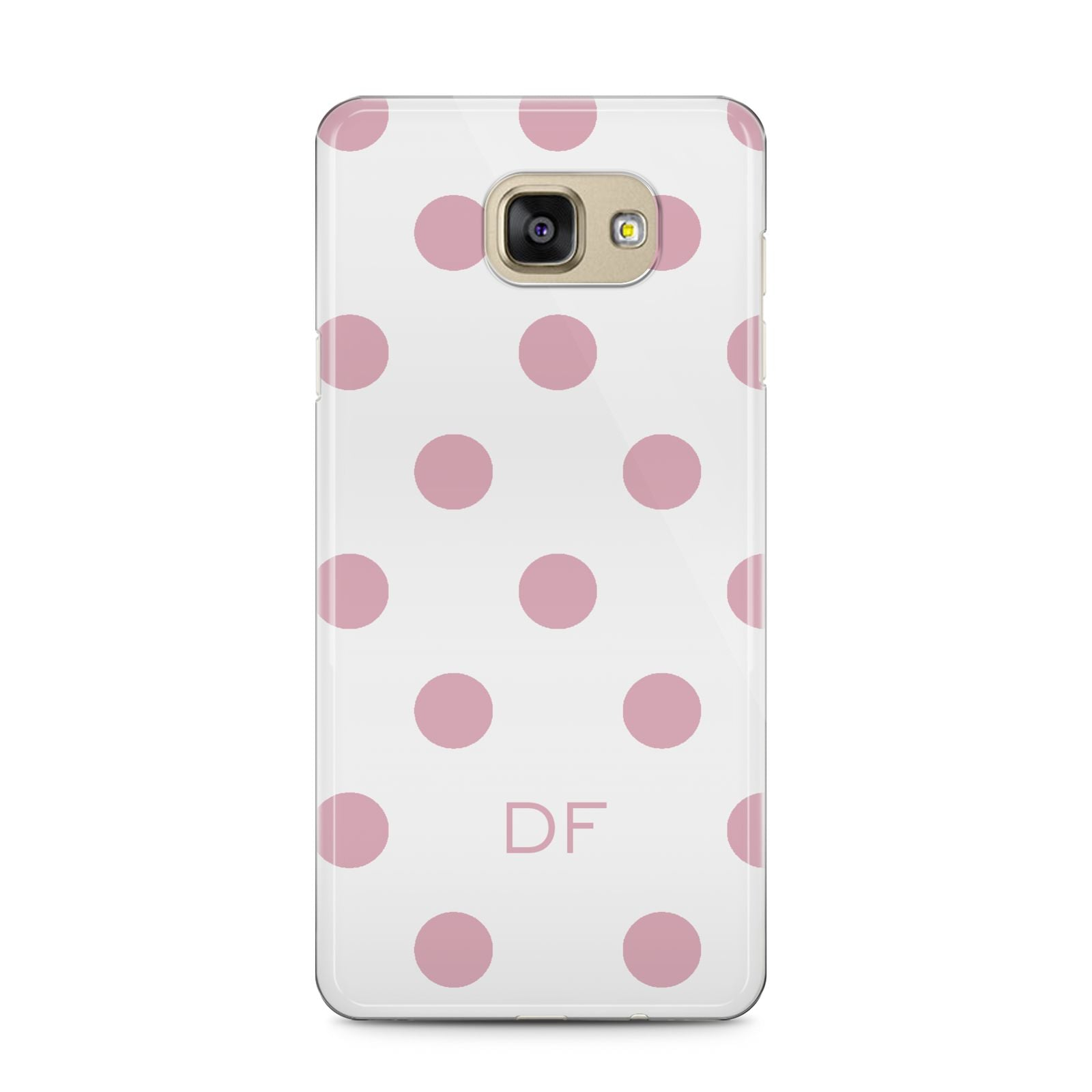 Dots Initials Personalised Samsung Galaxy A5 2016 Case on gold phone