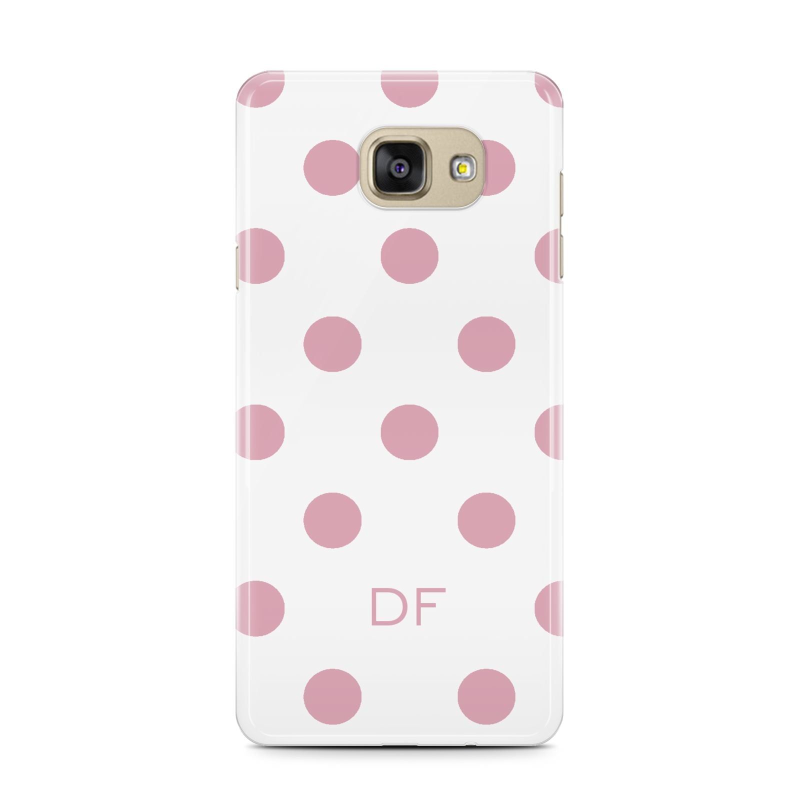 Dots Initials Personalised Samsung Galaxy A7 2016 Case on gold phone