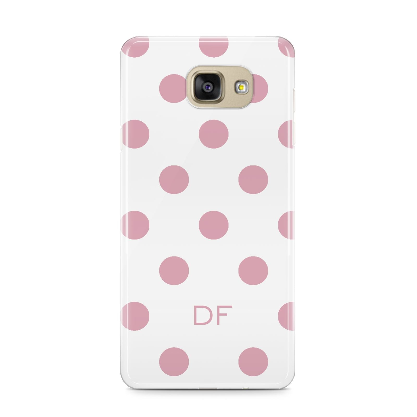 Dots Initials Personalised Samsung Galaxy A9 2016 Case on gold phone