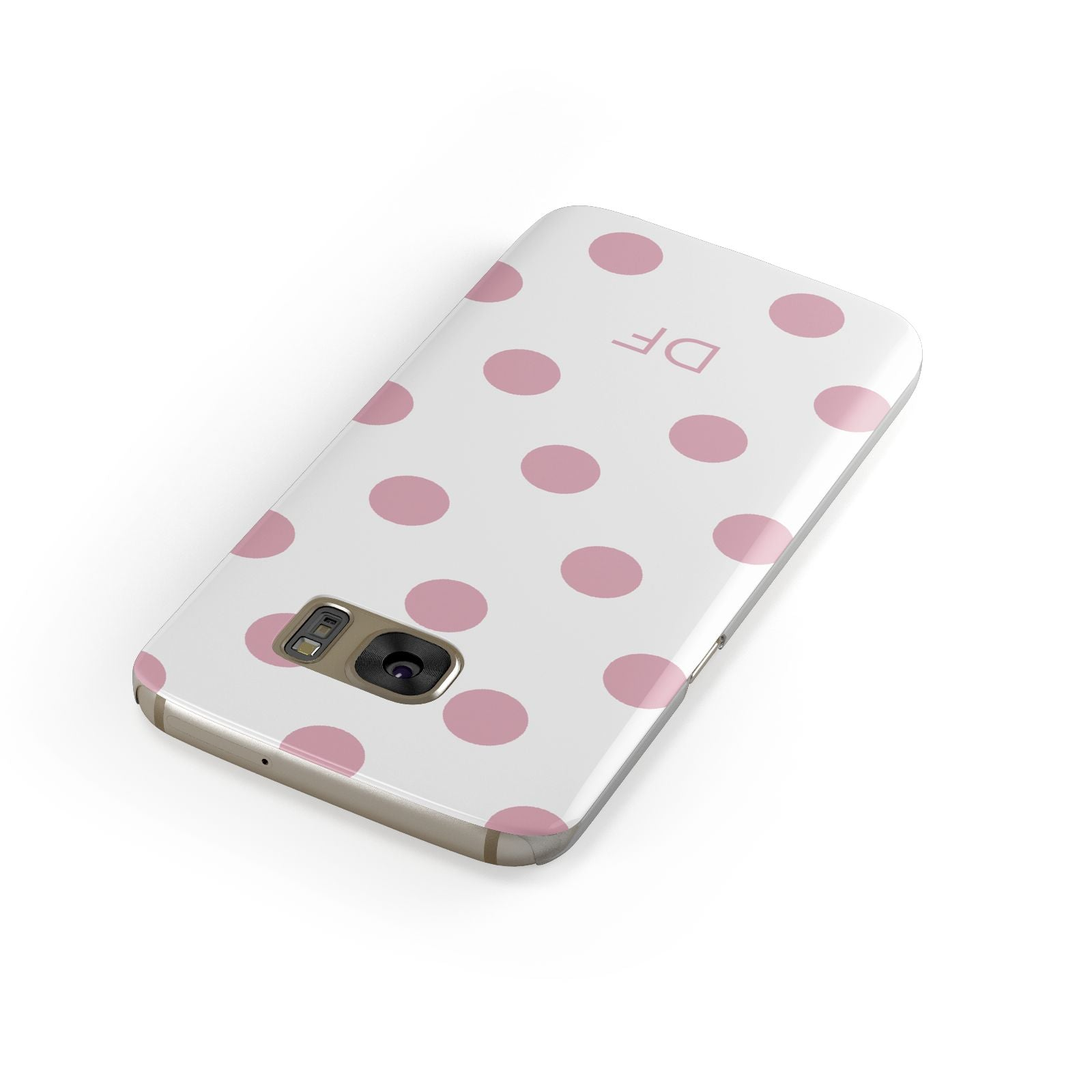 Dots Initials Personalised Samsung Galaxy Case Front Close Up
