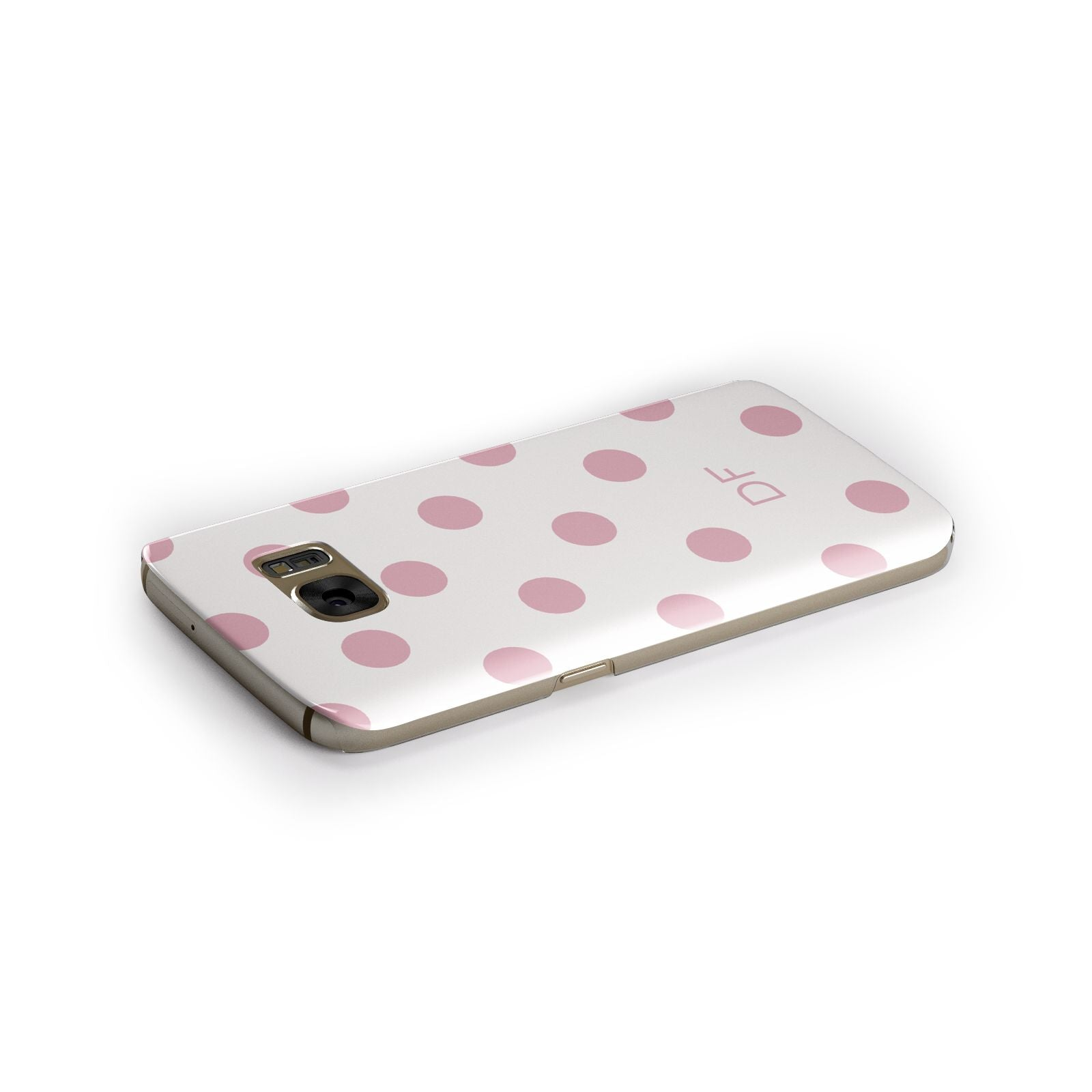 Dots Initials Personalised Samsung Galaxy Case Side Close Up