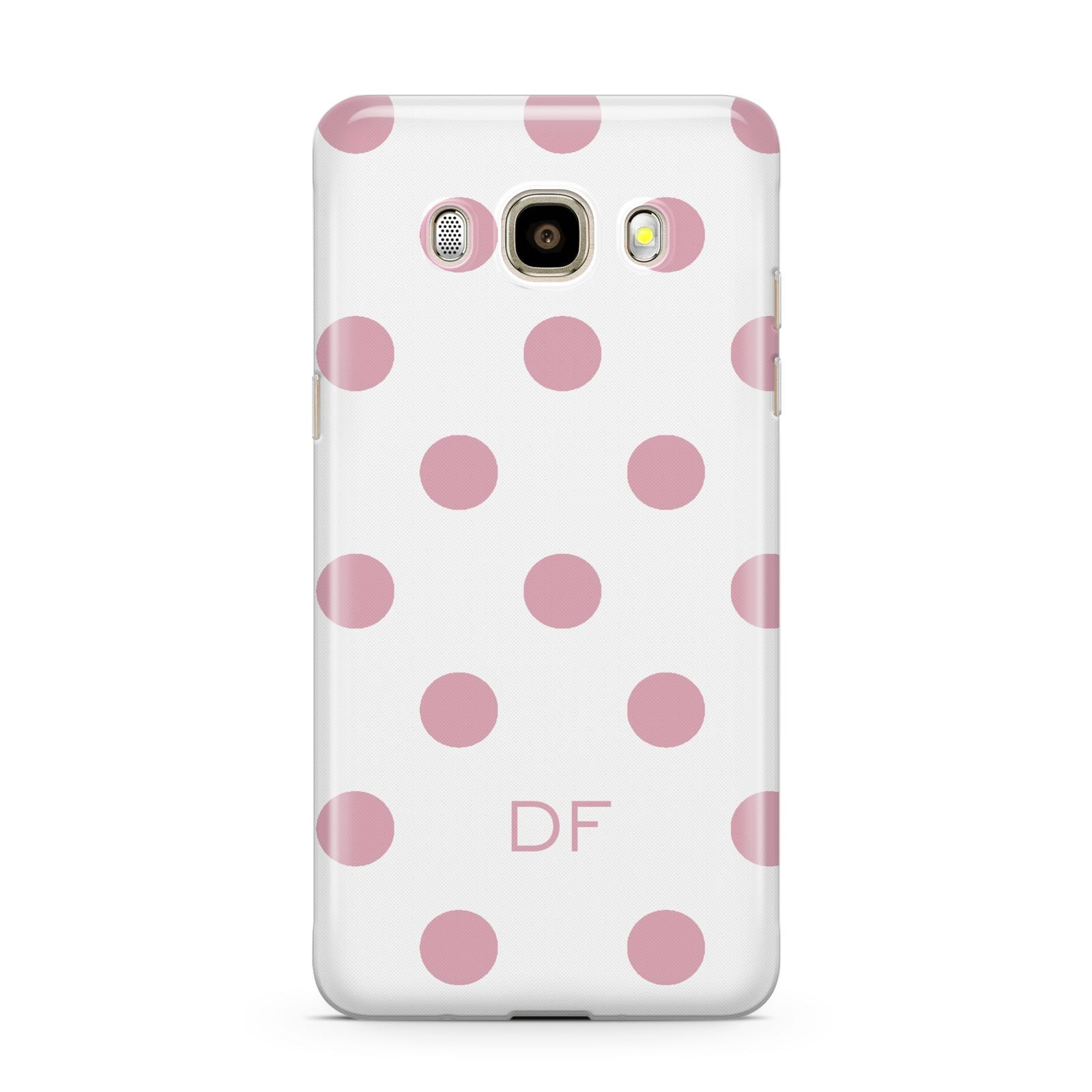 Dots Initials Personalised Samsung Galaxy J7 2016 Case on gold phone