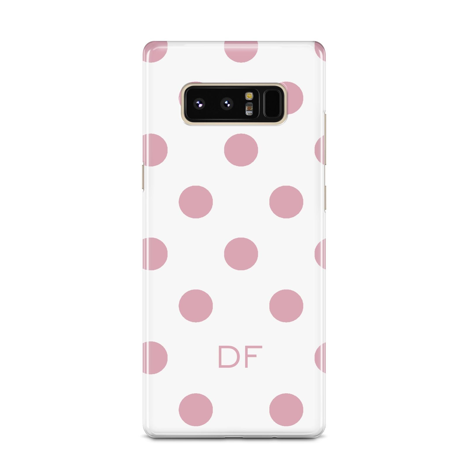 Dots Initials Personalised Samsung Galaxy Note 8 Case