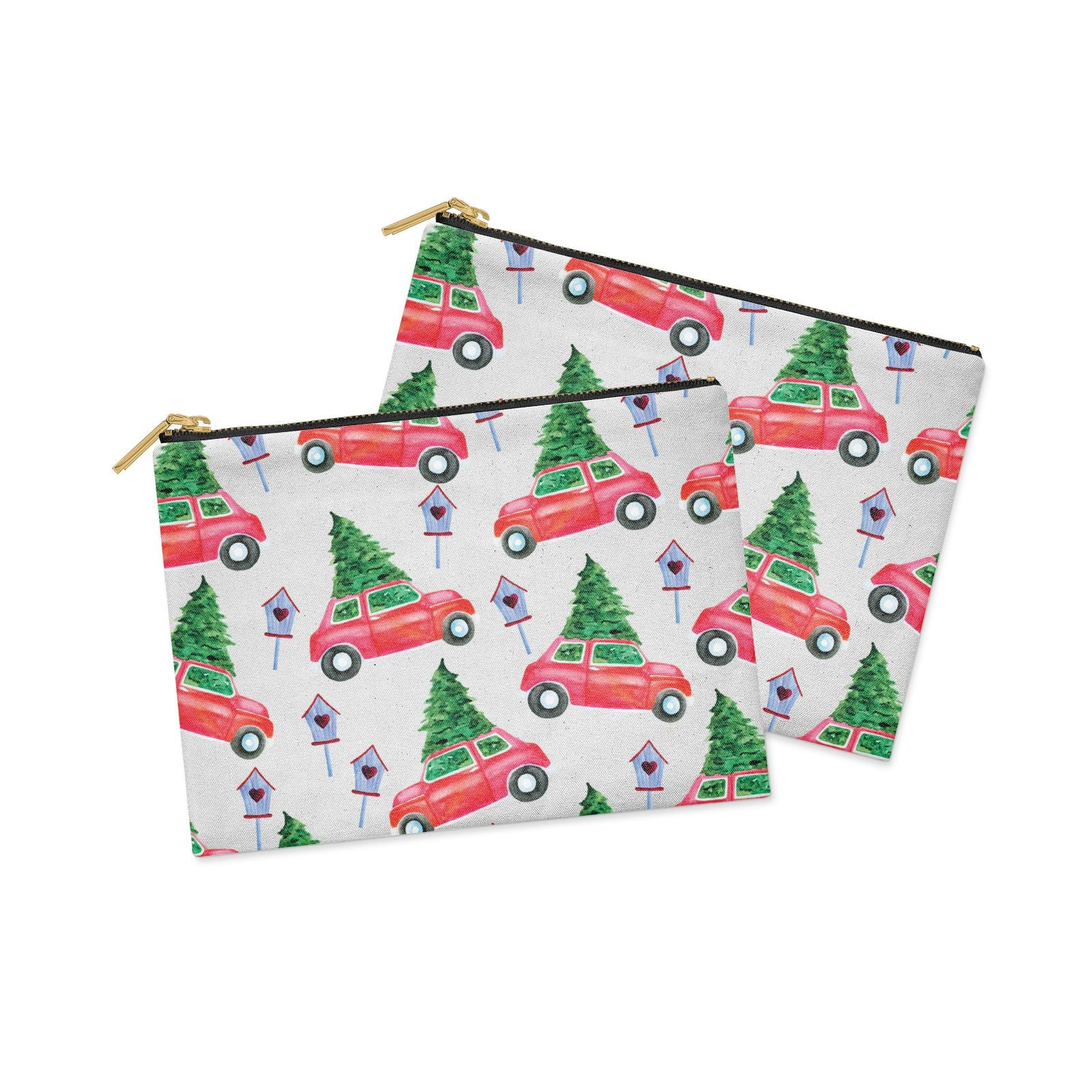 Driving home for Christmas Clutch Bag Zipper Pouch Alternative View