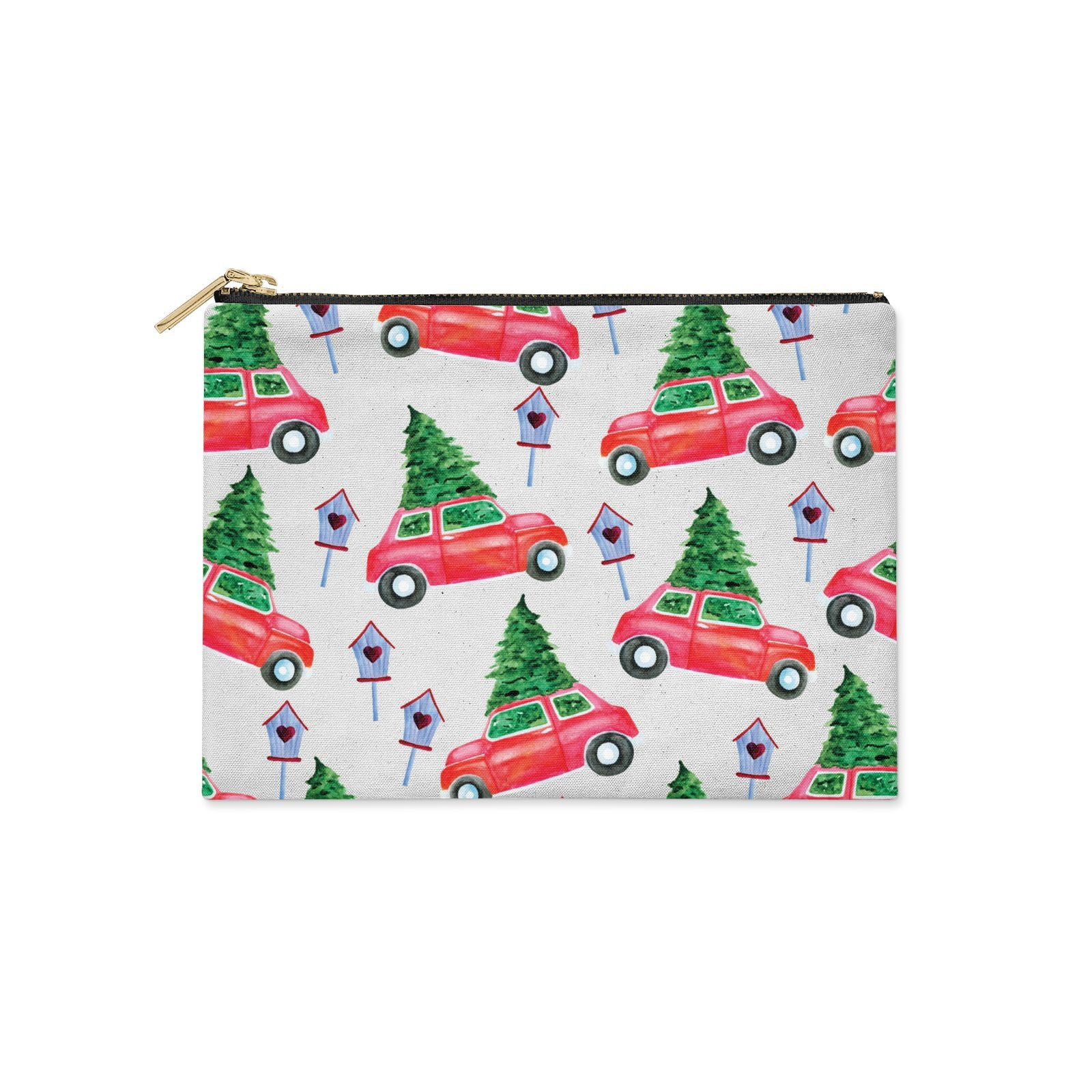 Driving home for Christmas Clutch Bag Zipper Pouch