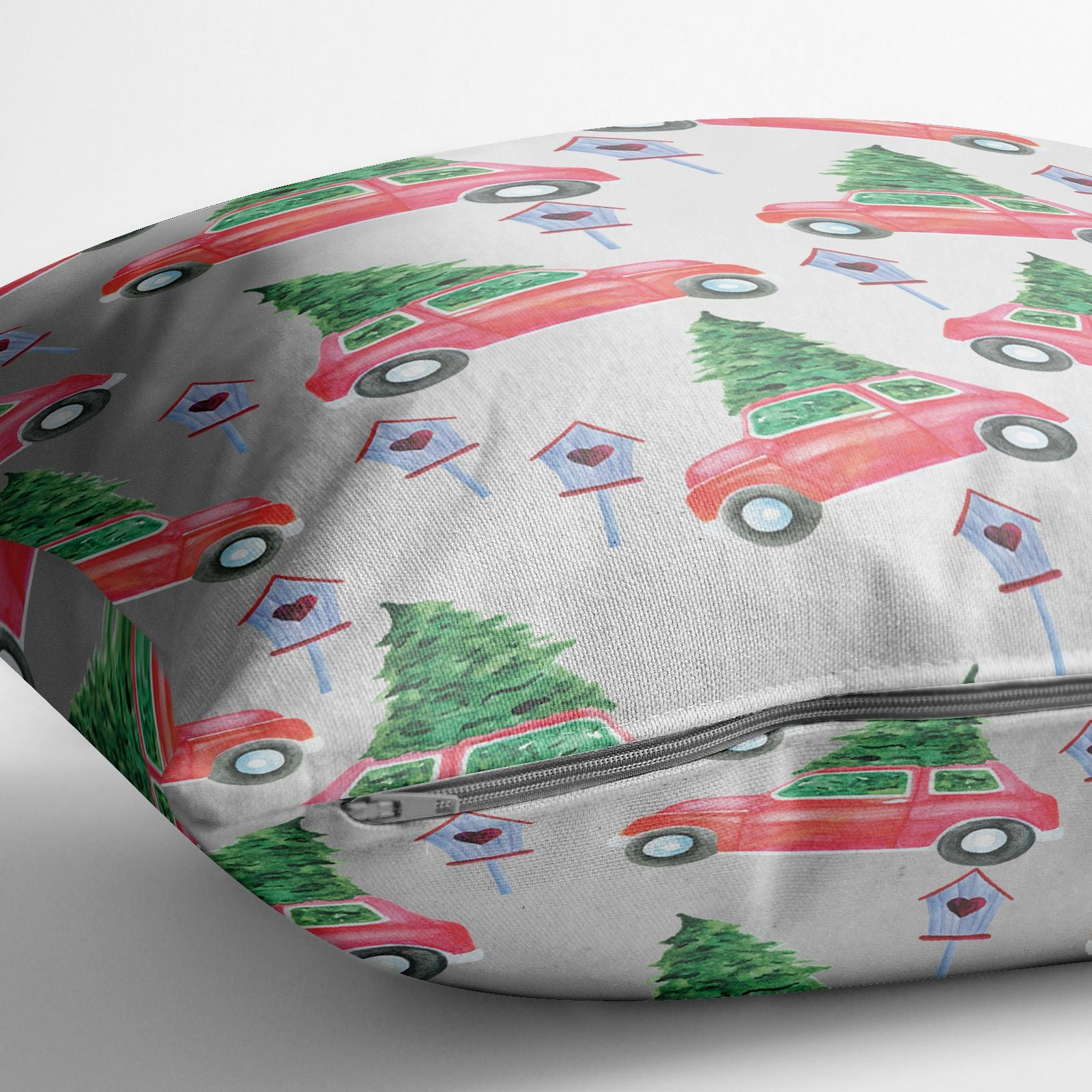 Driving home for Christmas Cotton Cushion Alternative Image