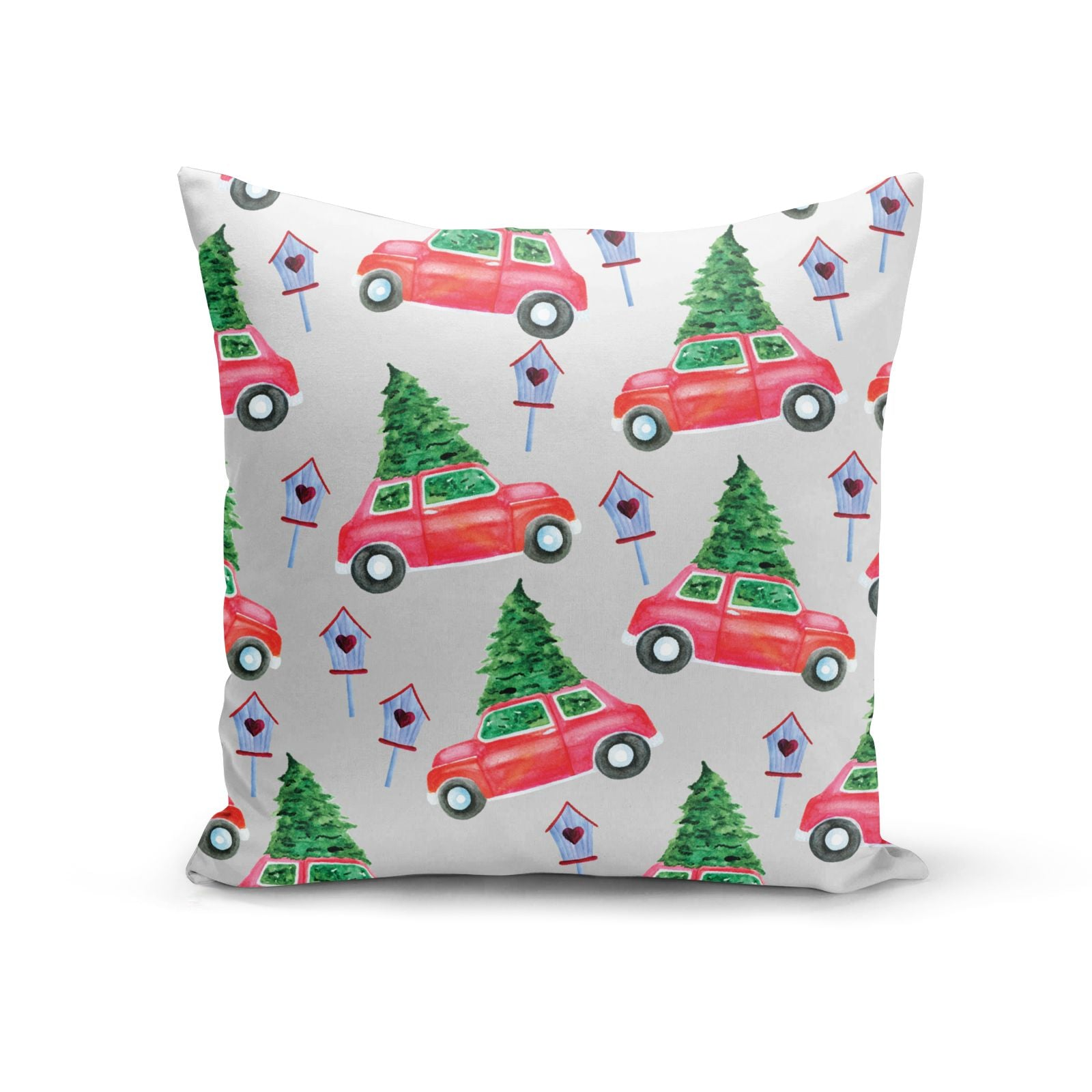 Driving home for Christmas Cotton Cushion