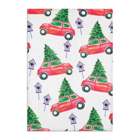 Driving home for Christmas Tea Towel